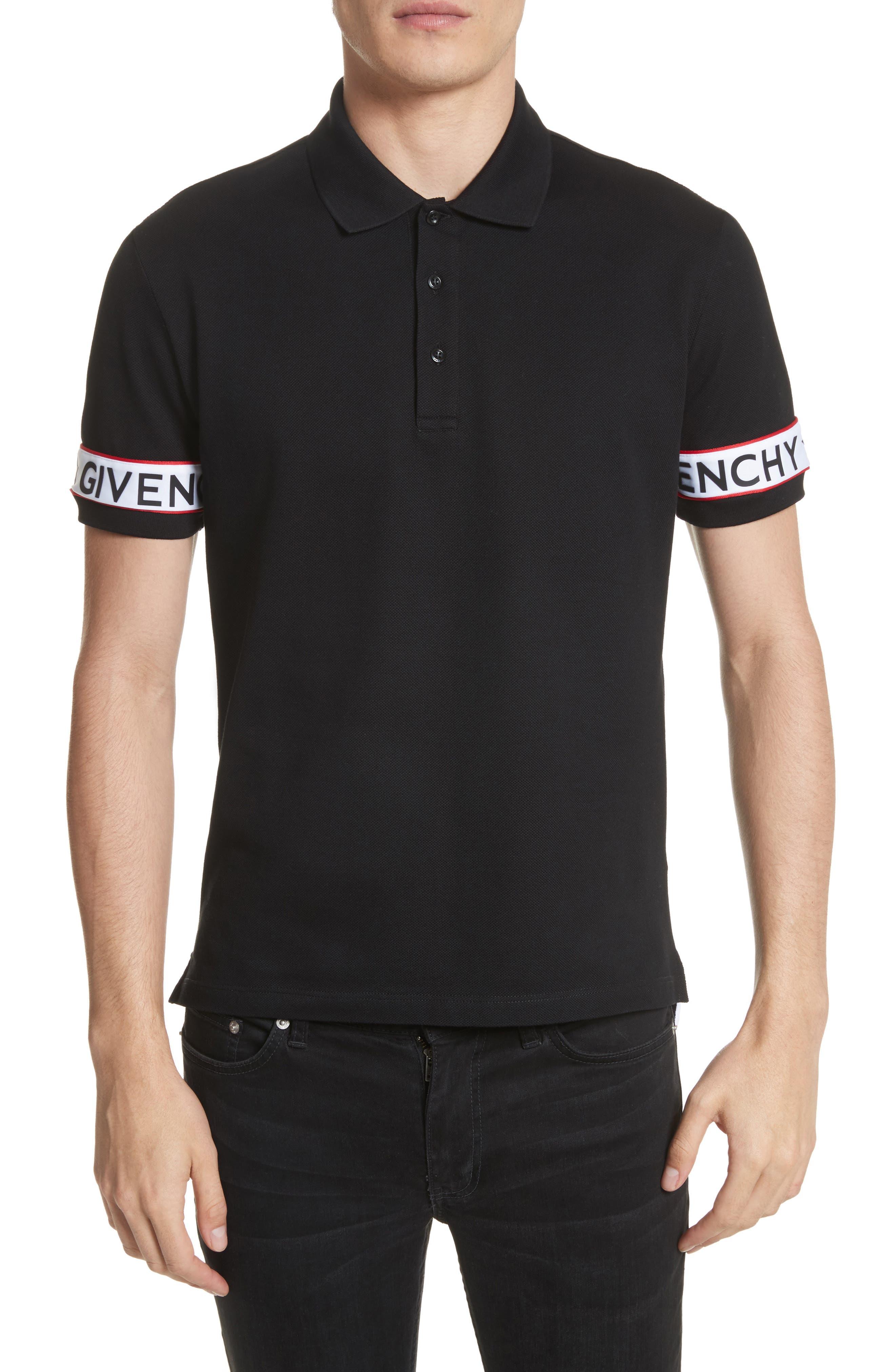 Givenchcy Logo Polo Shirt,                             Main thumbnail 1, color,                             001