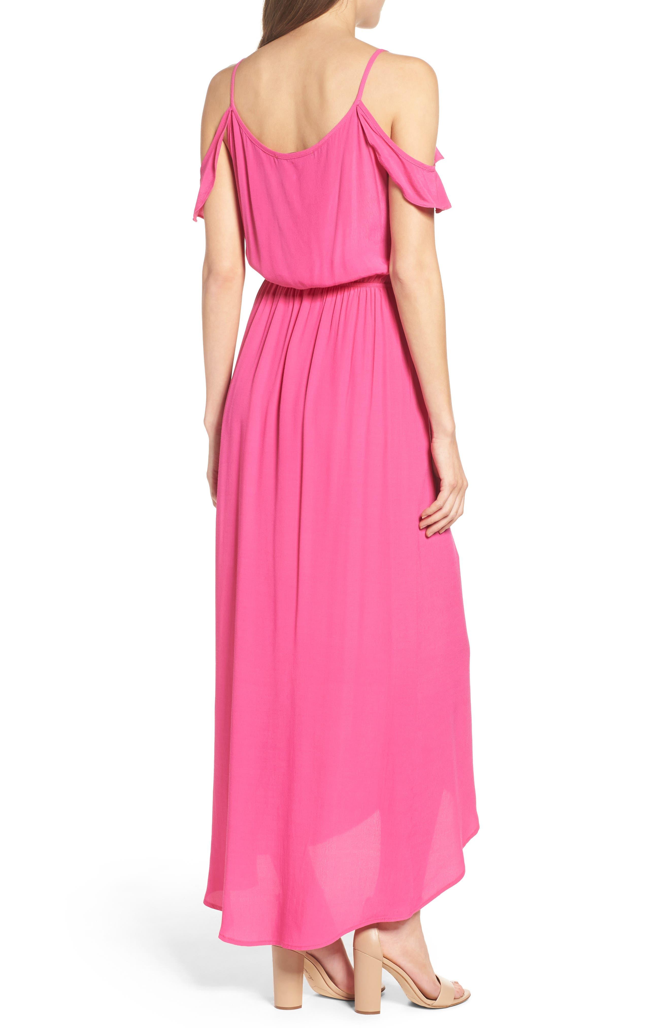 Cold Shoulder Maxi Dress,                             Alternate thumbnail 2, color,                             660