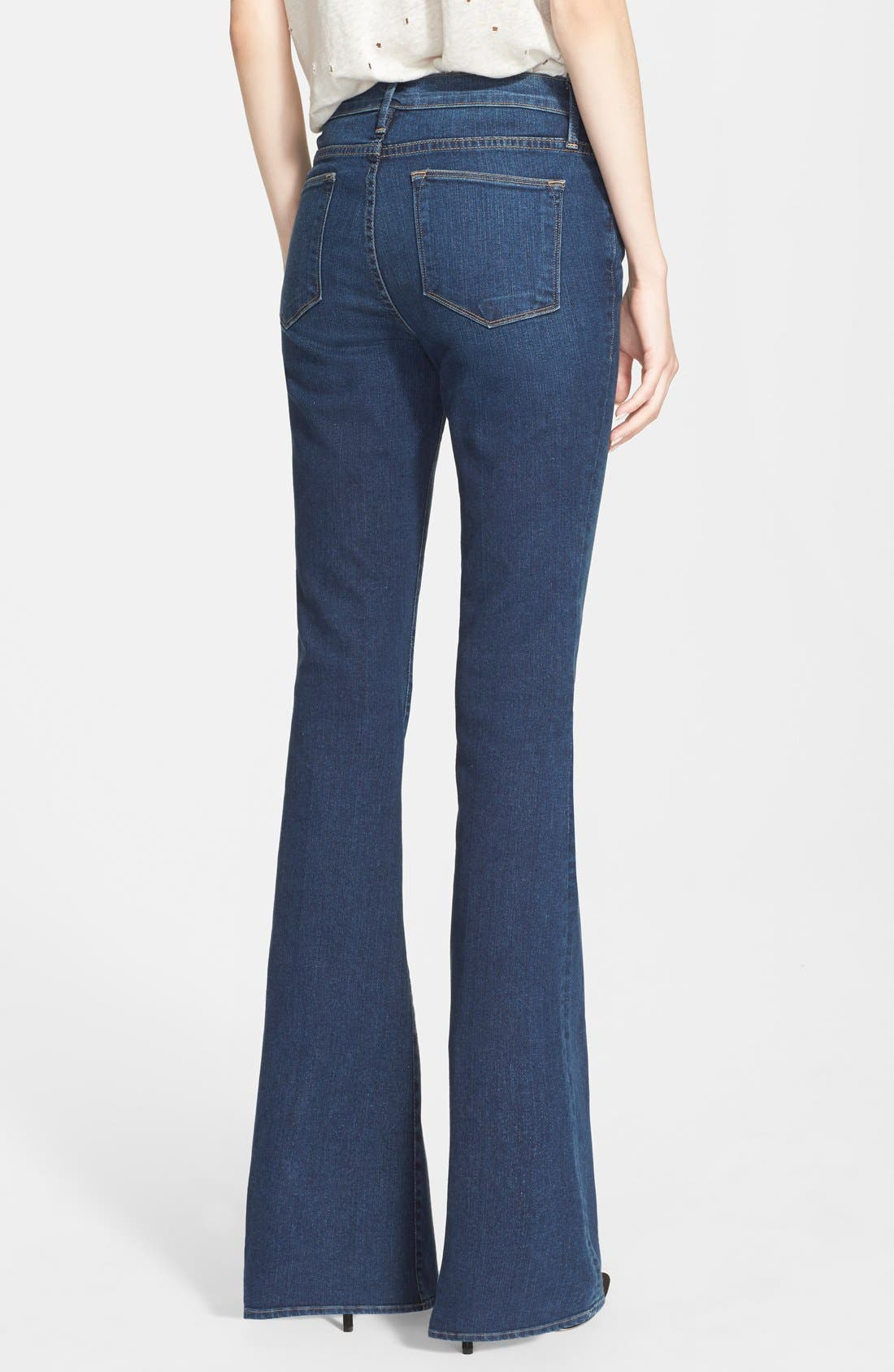 Denim 'Le High Flare' Flare Leg Jeans,                             Alternate thumbnail 6, color,                             401