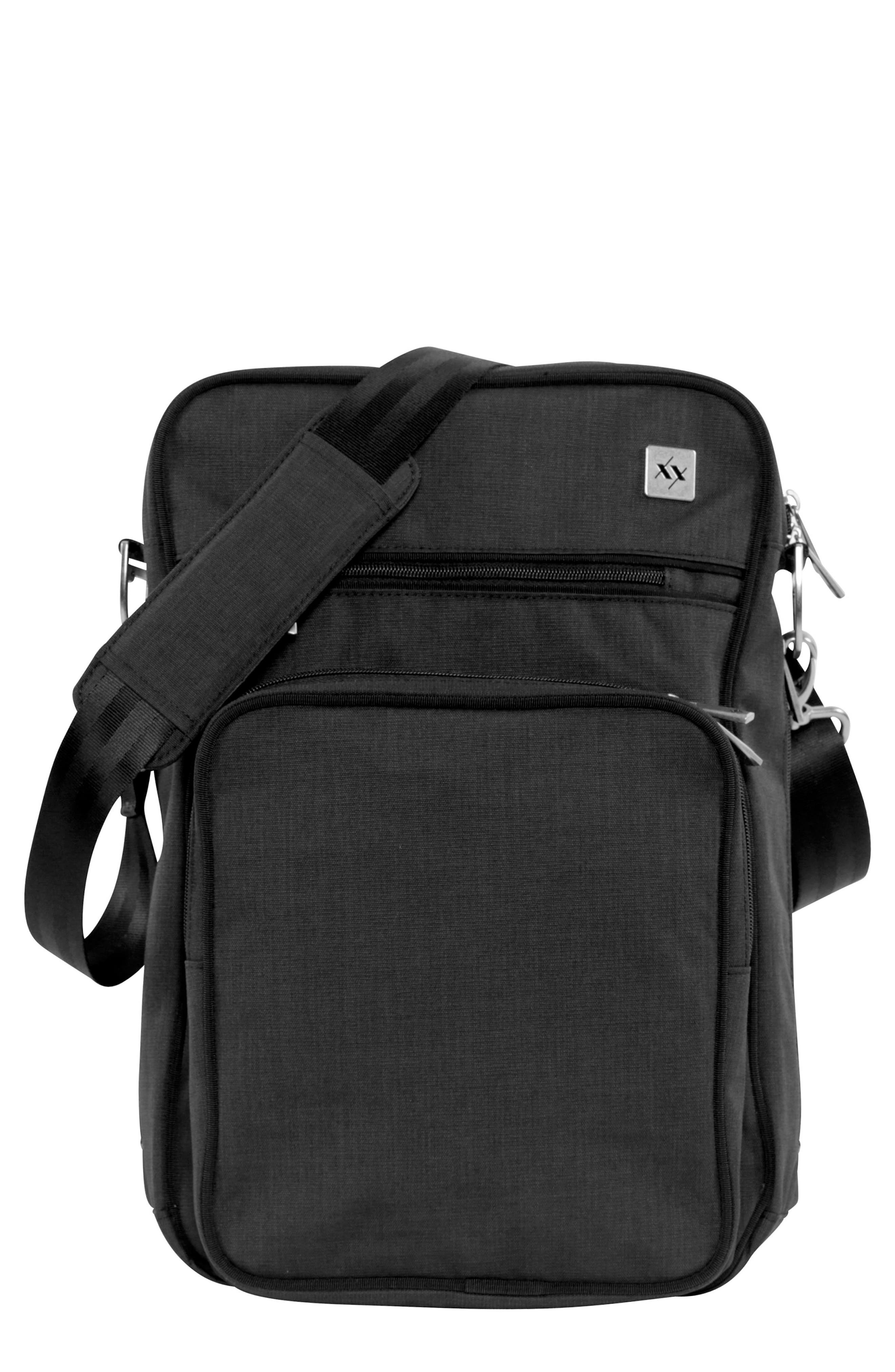 Helix Onyx Collection Messenger Diaper Bag,                             Main thumbnail 1, color,                             009
