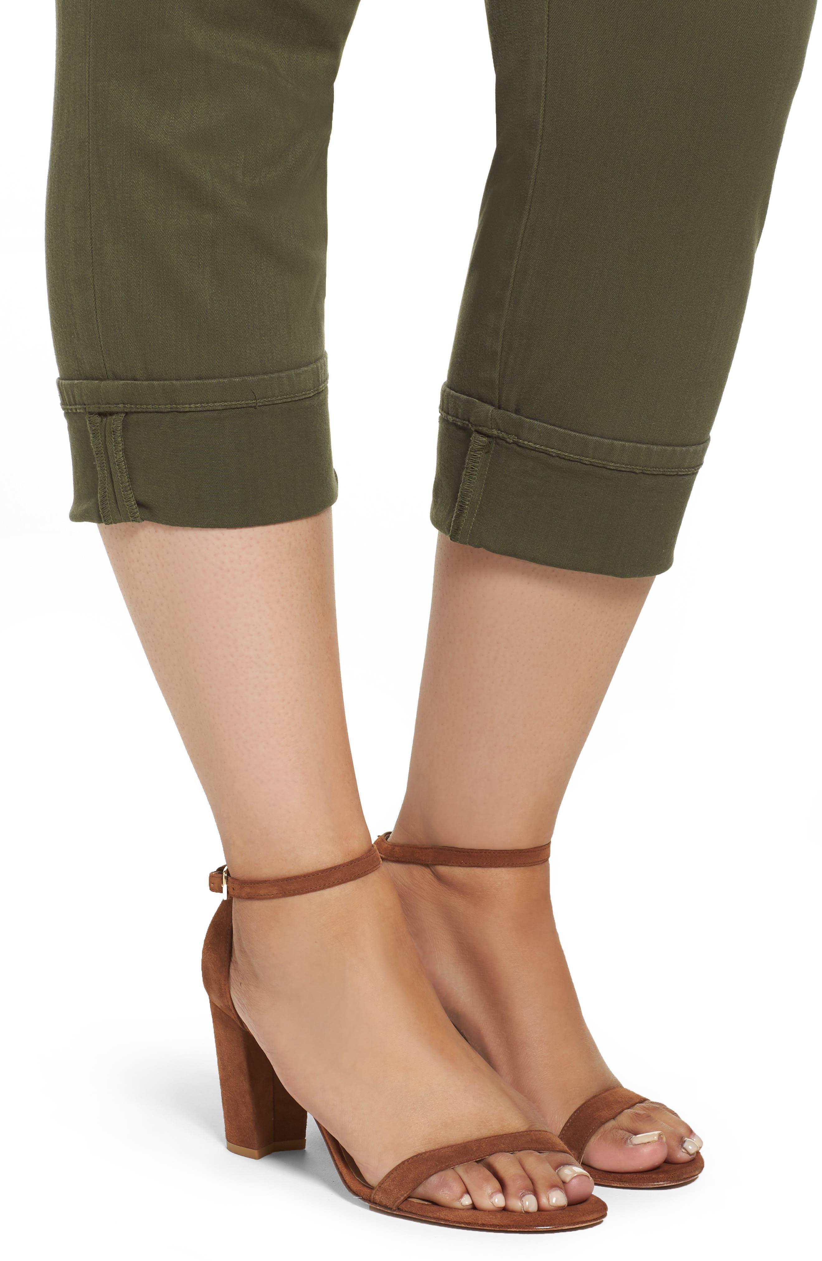 Dayla Colored Wide Cuff Capri Jeans,                             Alternate thumbnail 8, color,