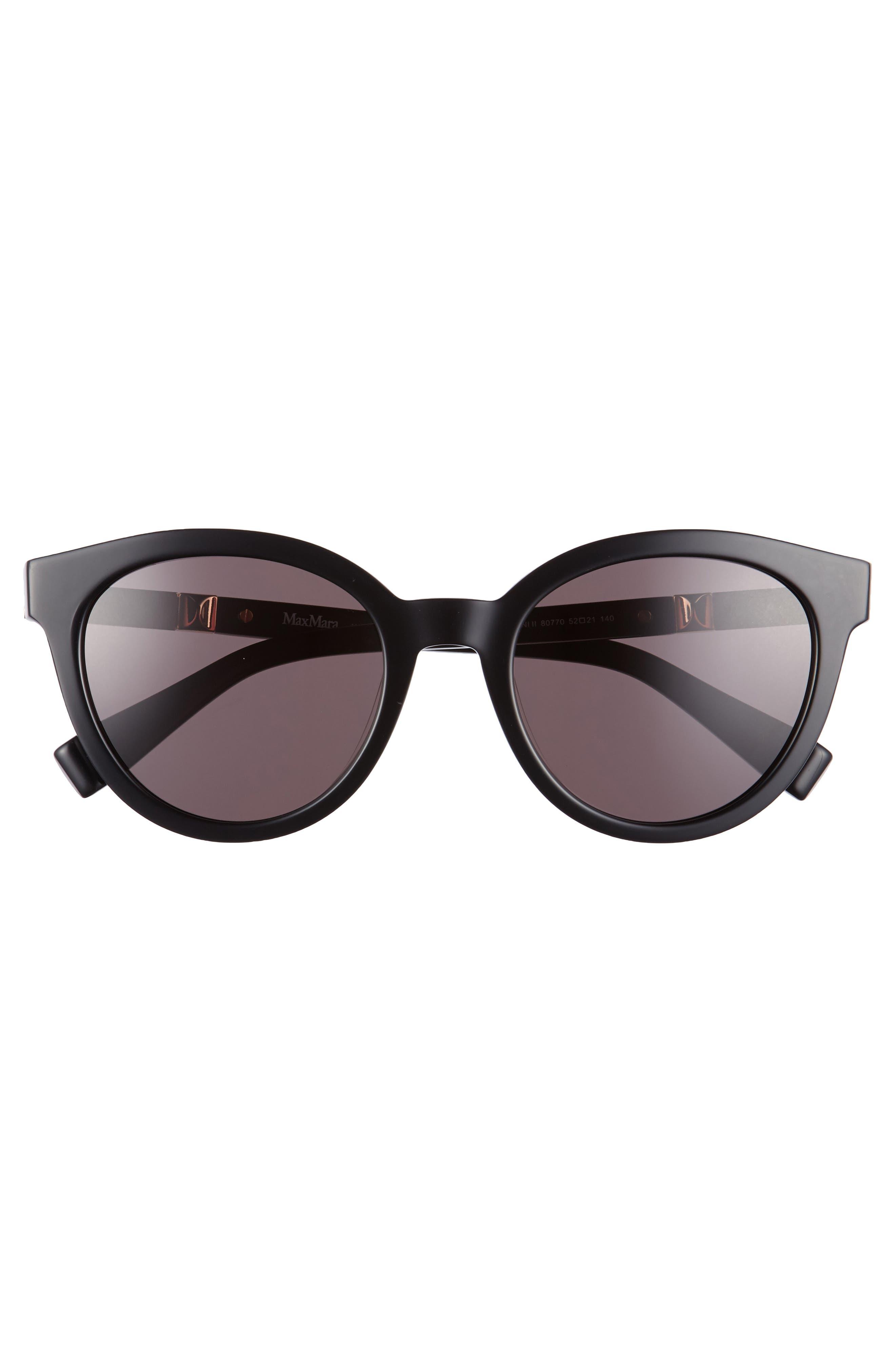 Gemini 52mm Cat Eye Sunglasses,                             Alternate thumbnail 3, color,                             001