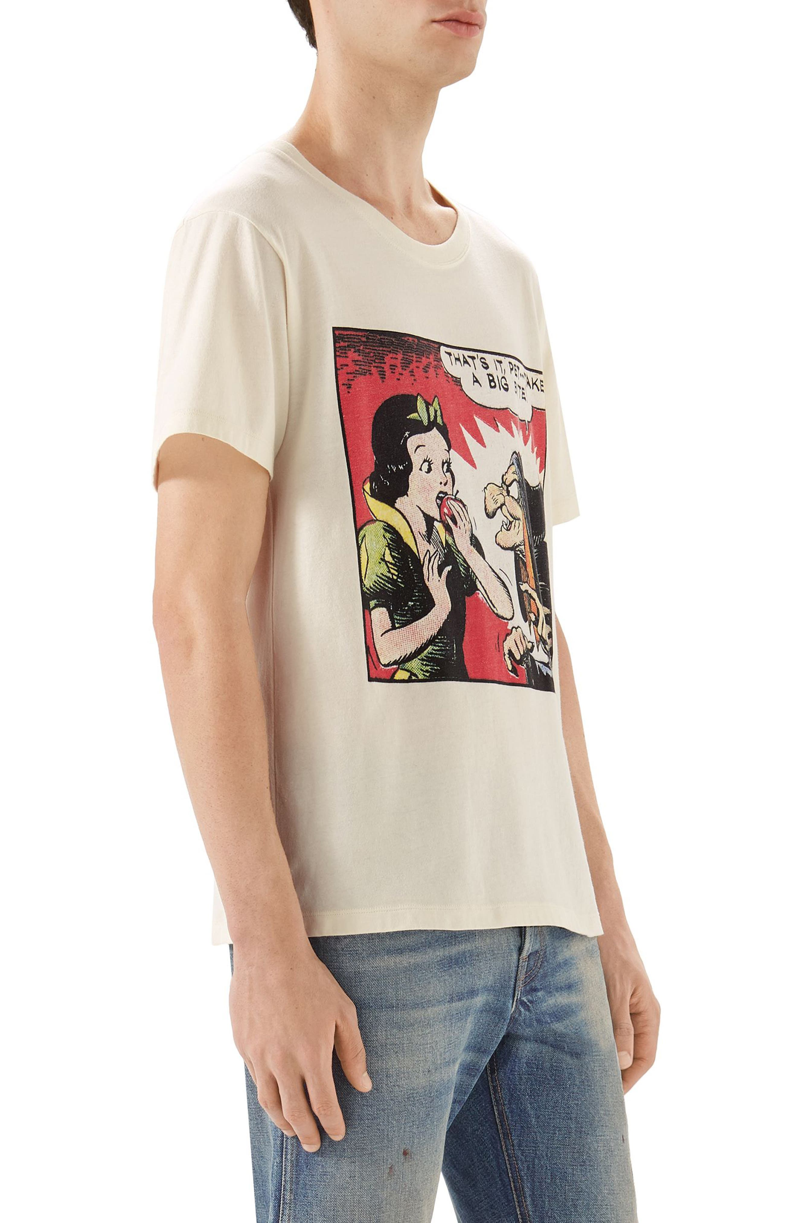 Snow White Graphic T-Shirt,                             Alternate thumbnail 3, color,                             900