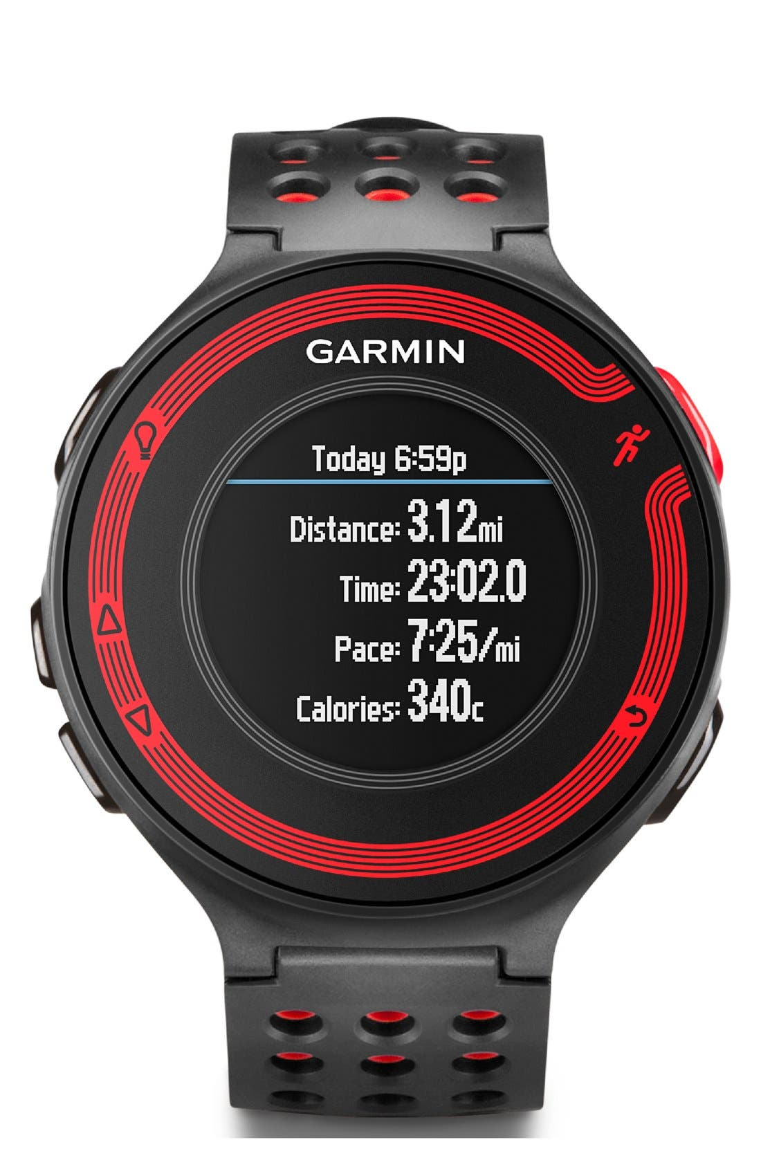 GARMIN,                             'Forerunner 220' Fitness Watch, 45mm,                             Alternate thumbnail 5, color,                             001