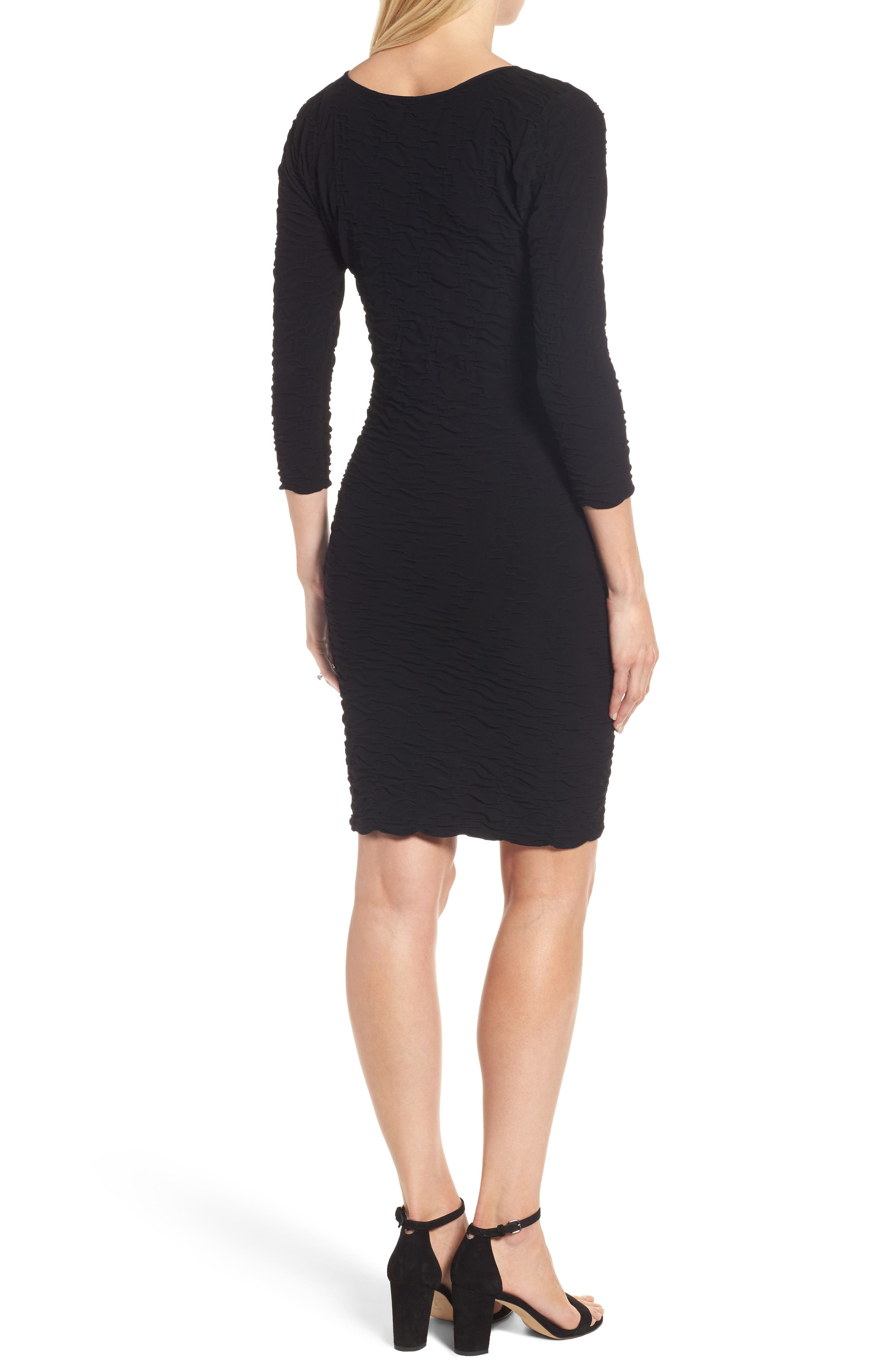 Crinkle Maternity Sheath Dress,                             Alternate thumbnail 2, color,                             001