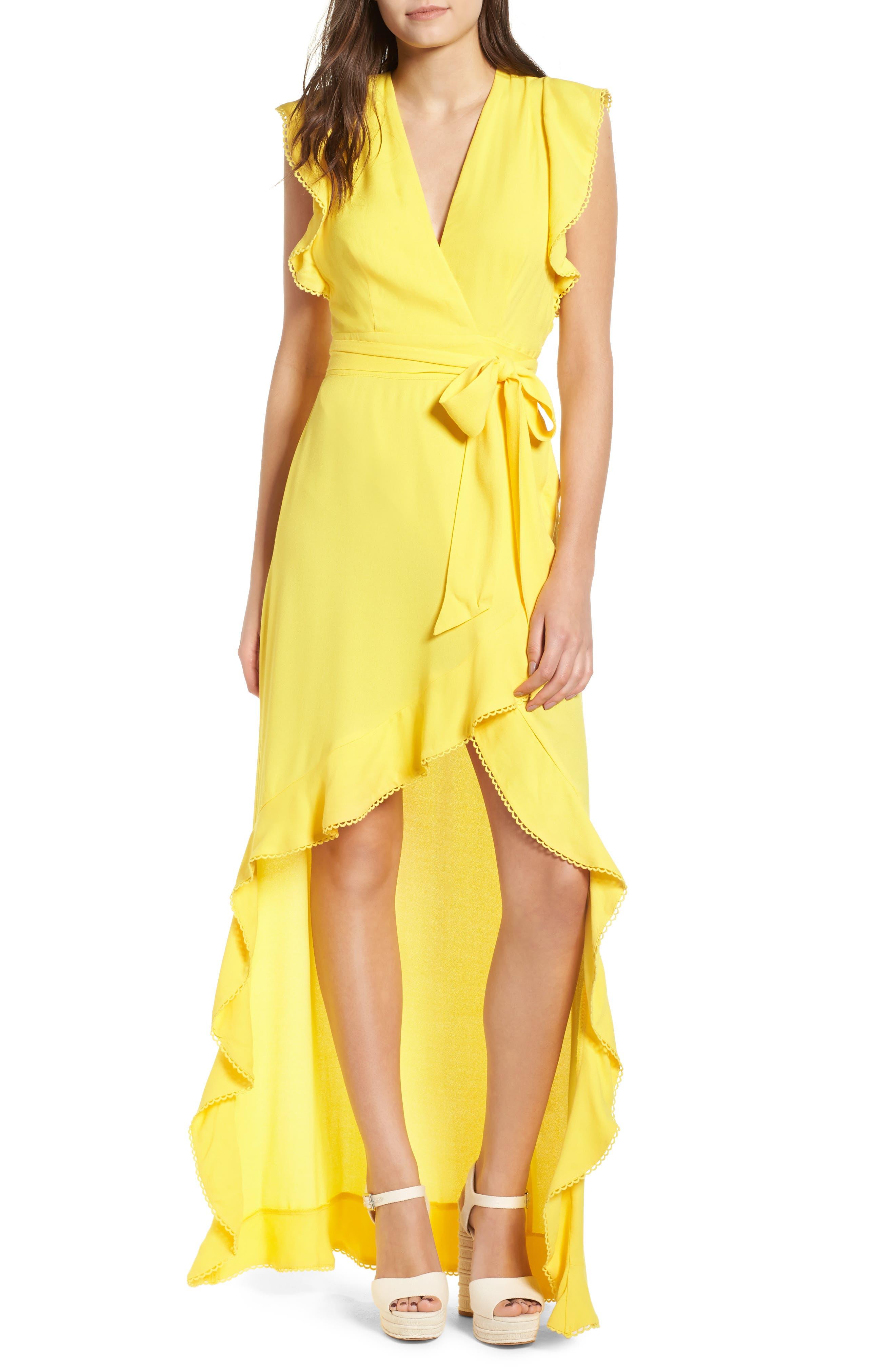Andrea Ruffle Wrap Dress,                             Main thumbnail 3, color,