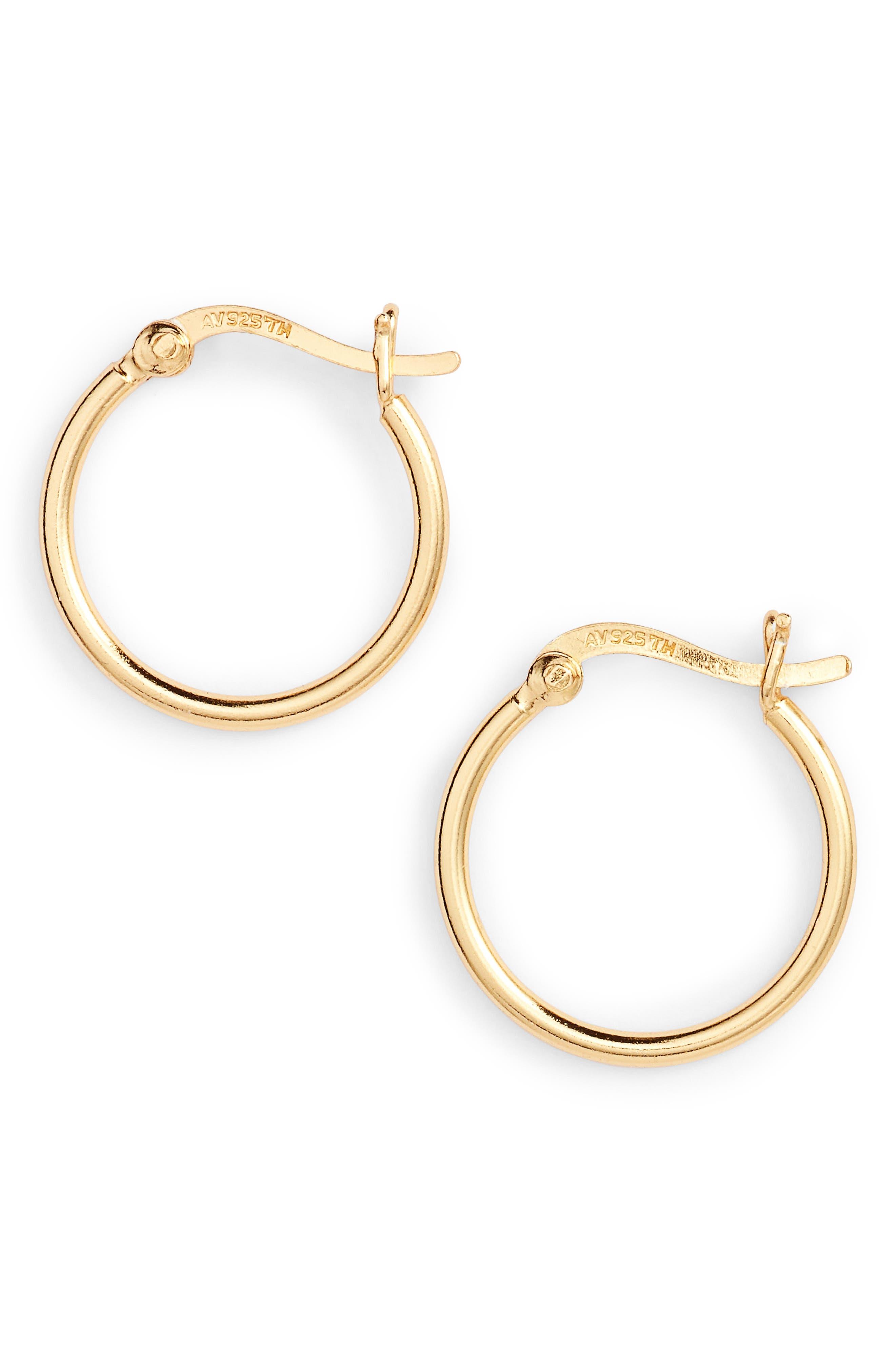 Hoop Earrings,                         Main,                         color, GOLD