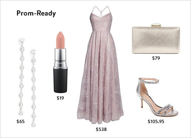 Prom ready: Women's dresses, accessories, shoes and beauty.