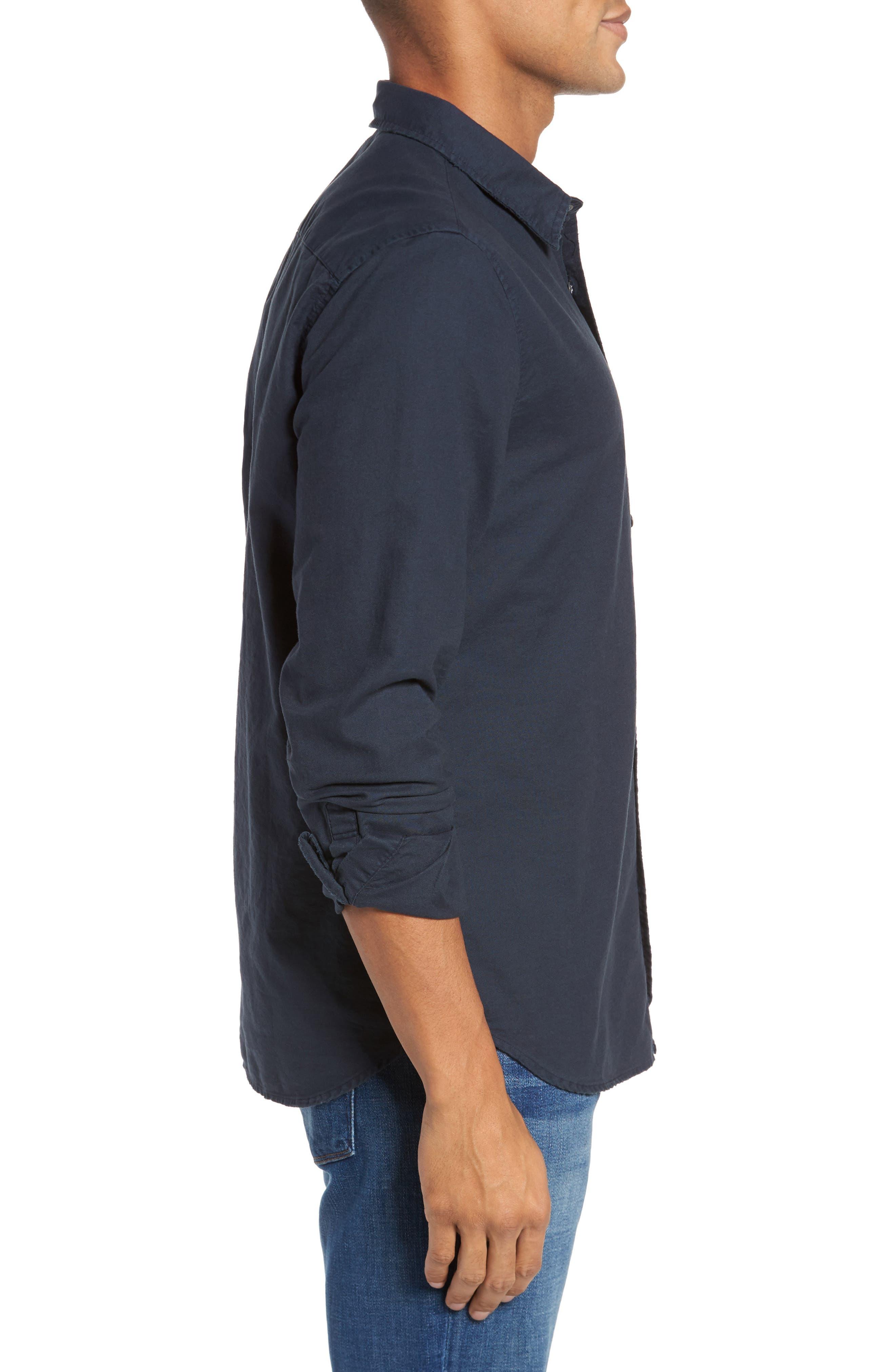 Caleb Slim Fit Twill Sport Shirt,                             Alternate thumbnail 6, color,