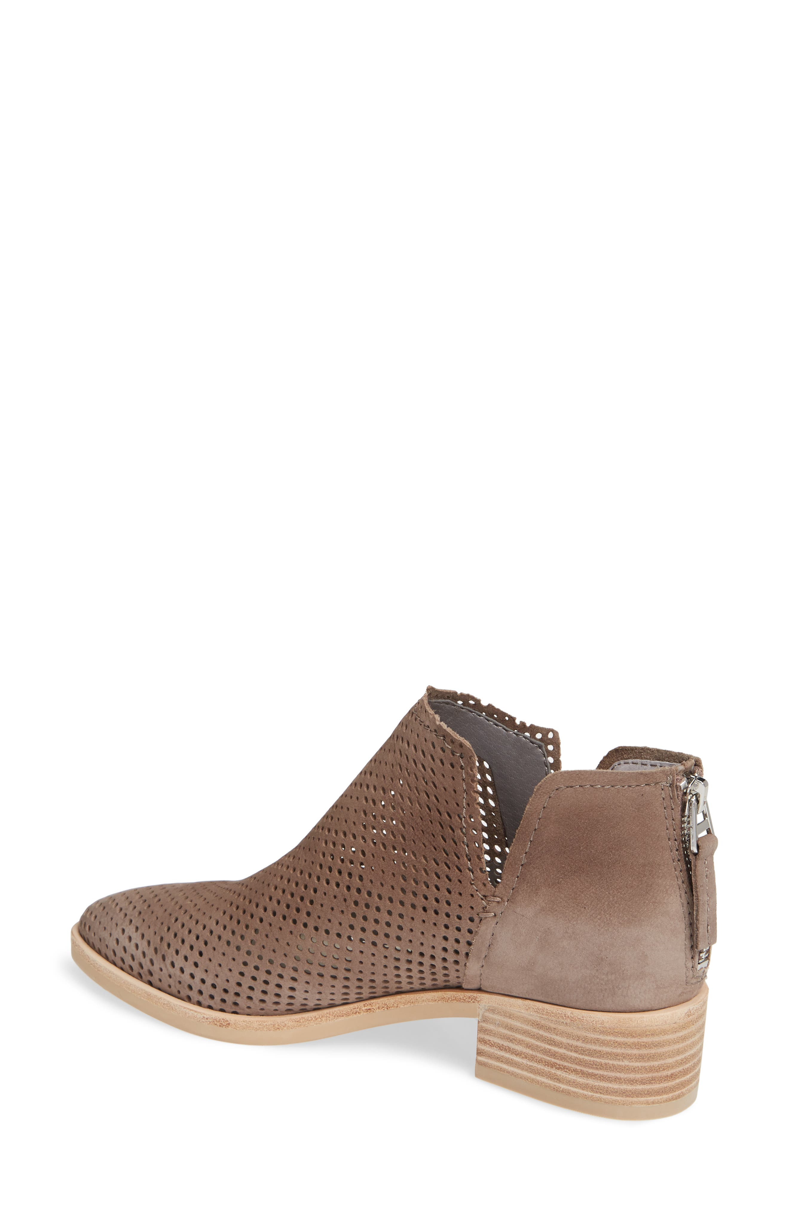 DOLCE VITA,                             Tauris Perforated Bootie,                             Alternate thumbnail 2, color,                             SMOKE