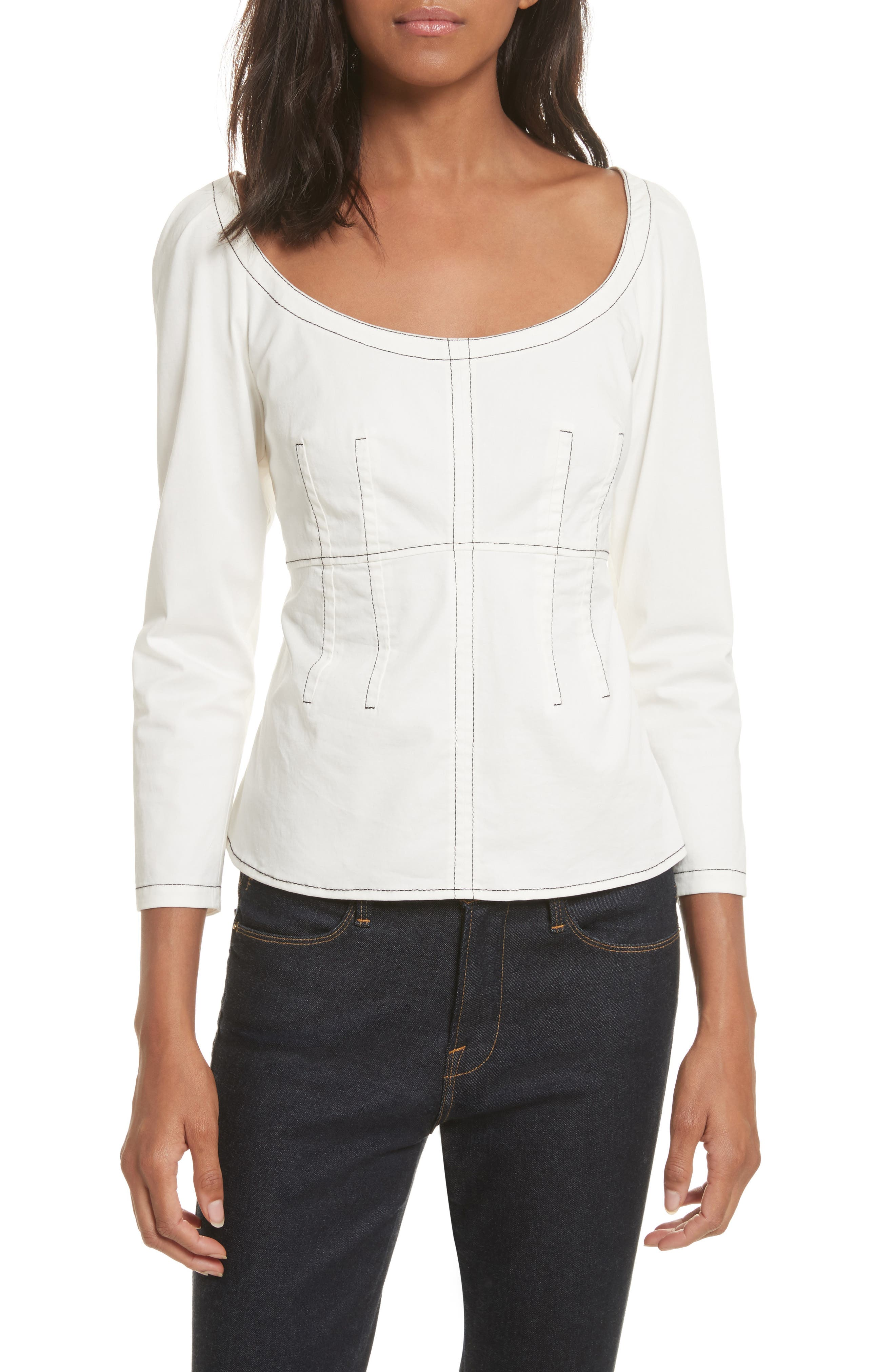 Structured Twill Top,                             Main thumbnail 1, color,