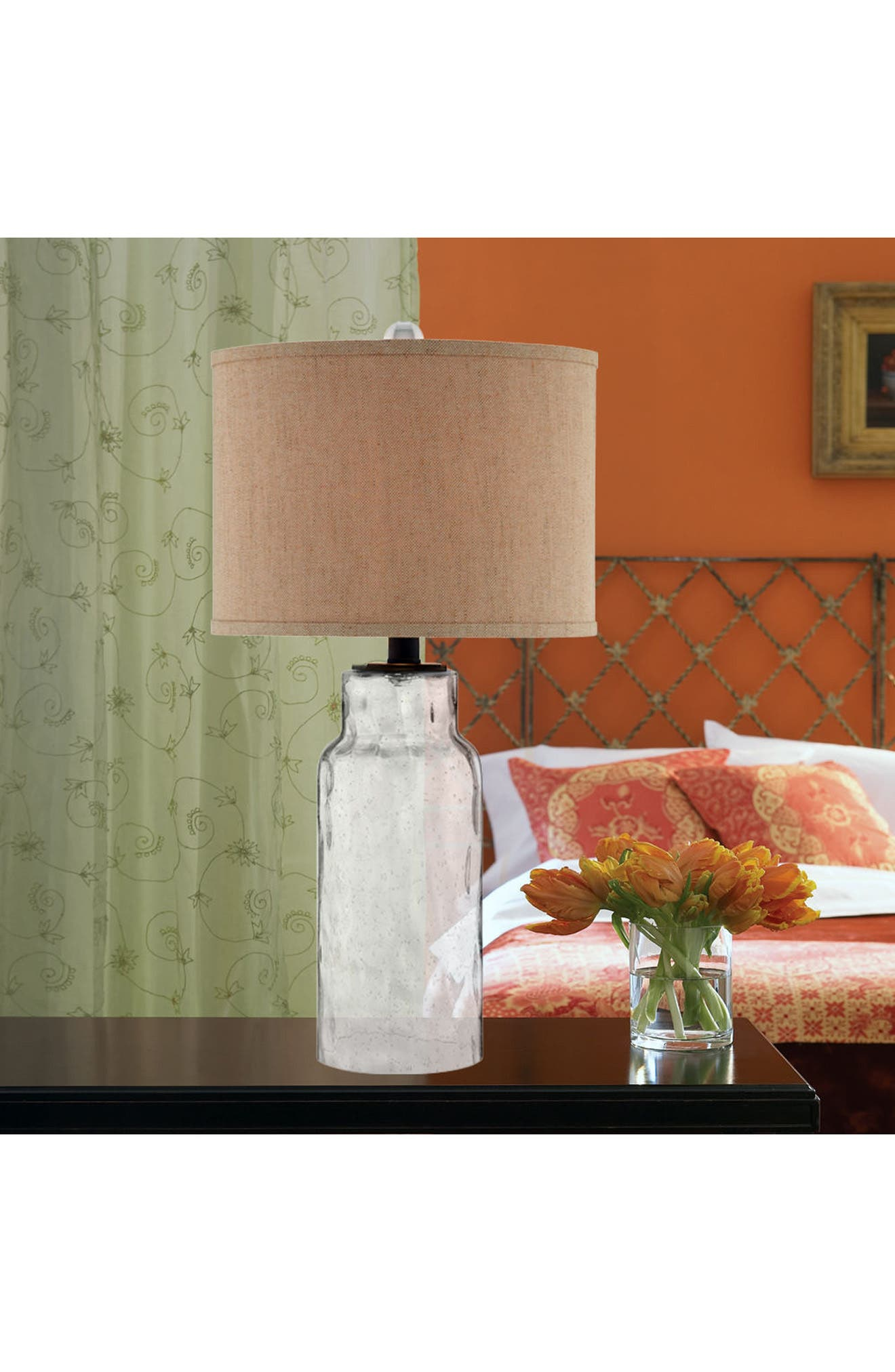 Clear Dimpled Glass Table Lamp,                             Alternate thumbnail 3, color,