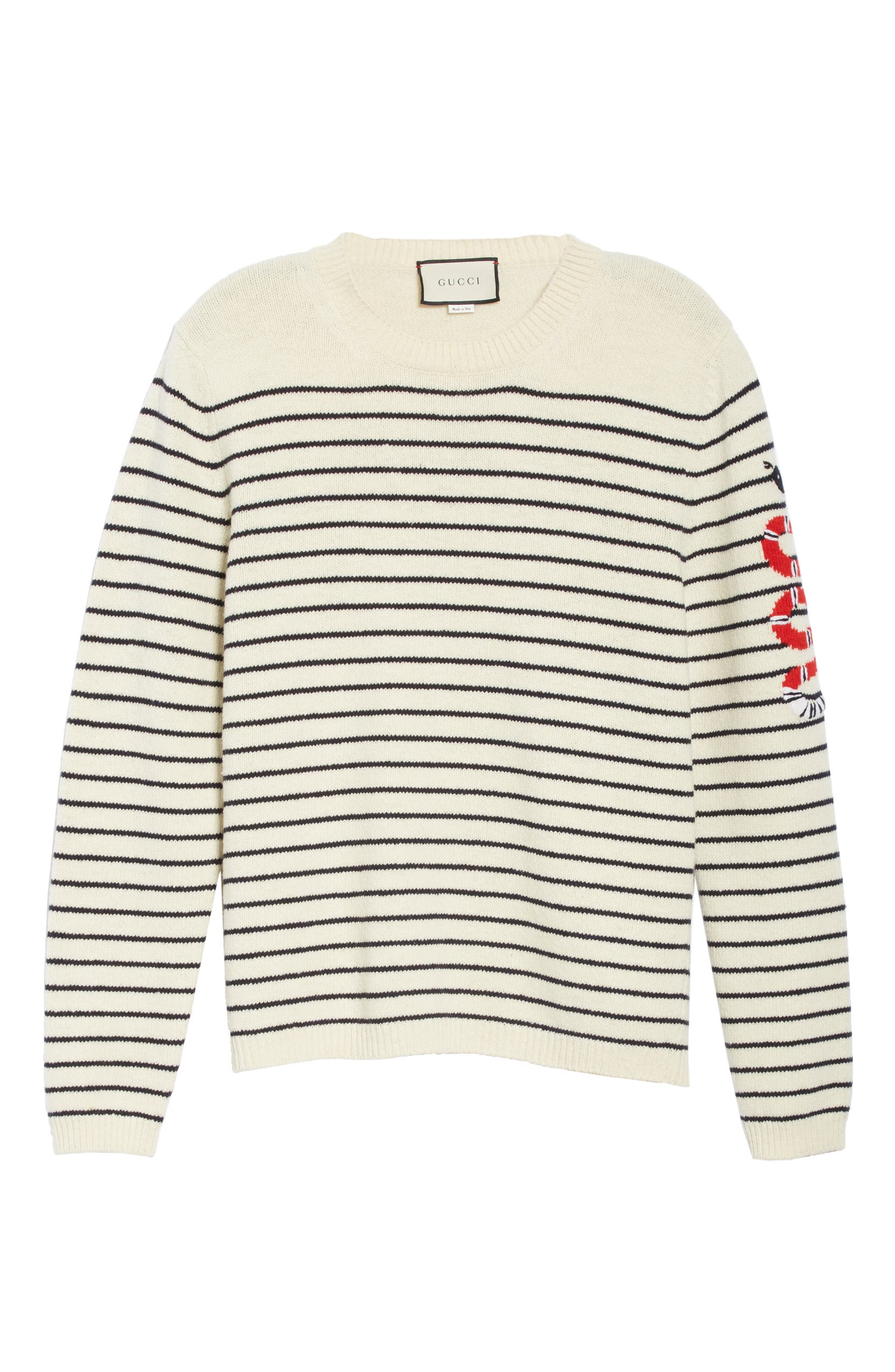 32a20669 Gucci Kingsnake Striped Wool Sweater | Nordstrom