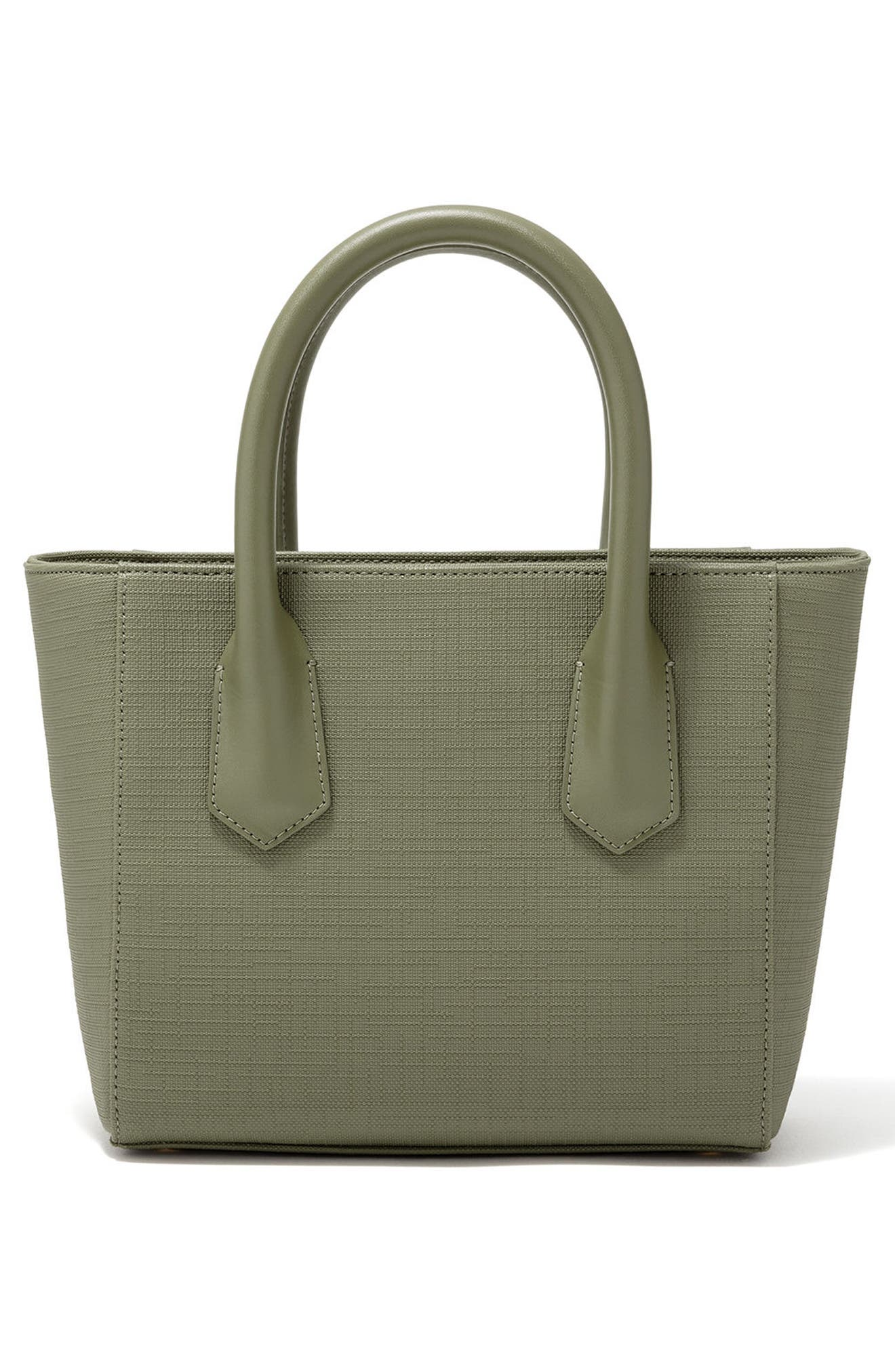 Signature Petite Coated Canvas Tote,                             Alternate thumbnail 2, color,                             OLIVE