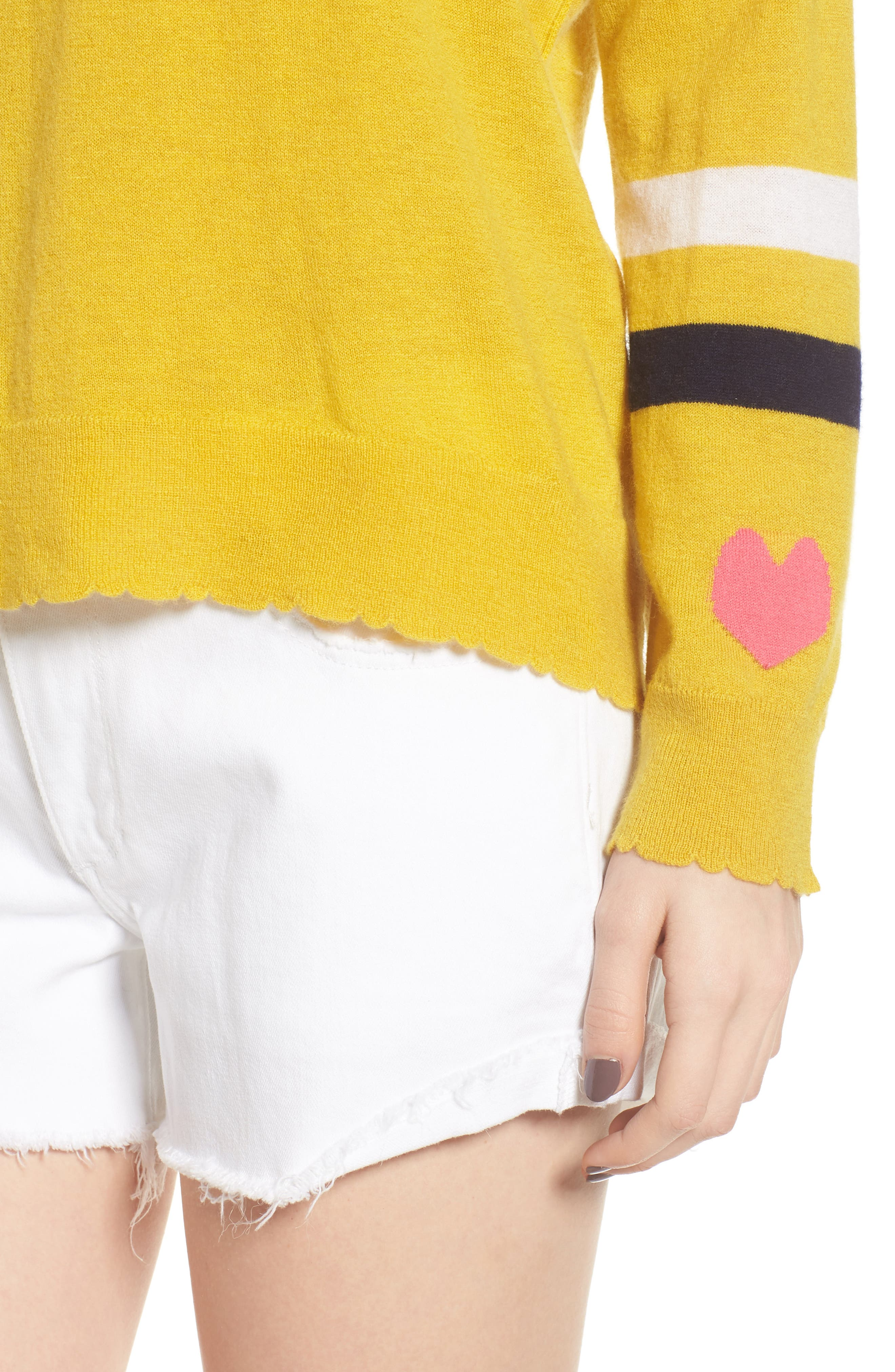 Stripe Wool & Cashmere Sweater,                             Alternate thumbnail 4, color,                             700