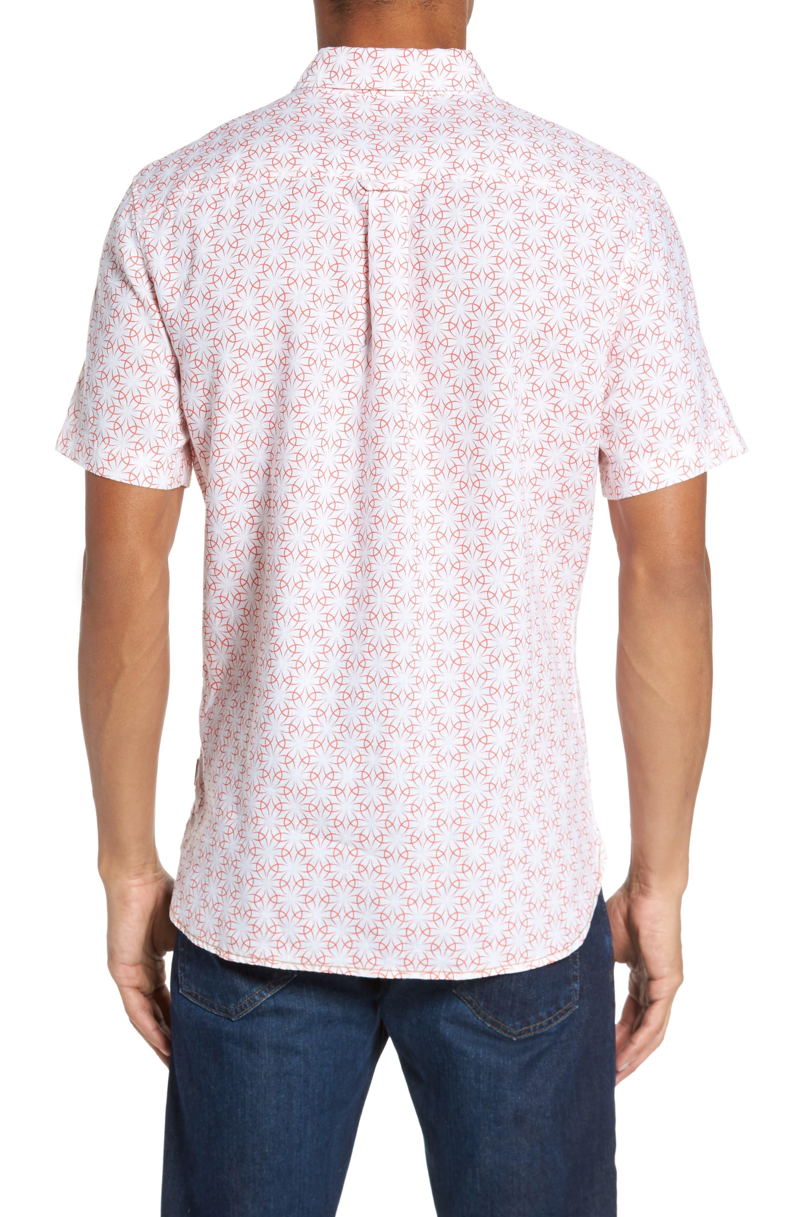 Gradient Flower Linen Sport Shirt,                             Alternate thumbnail 2, color,                             101