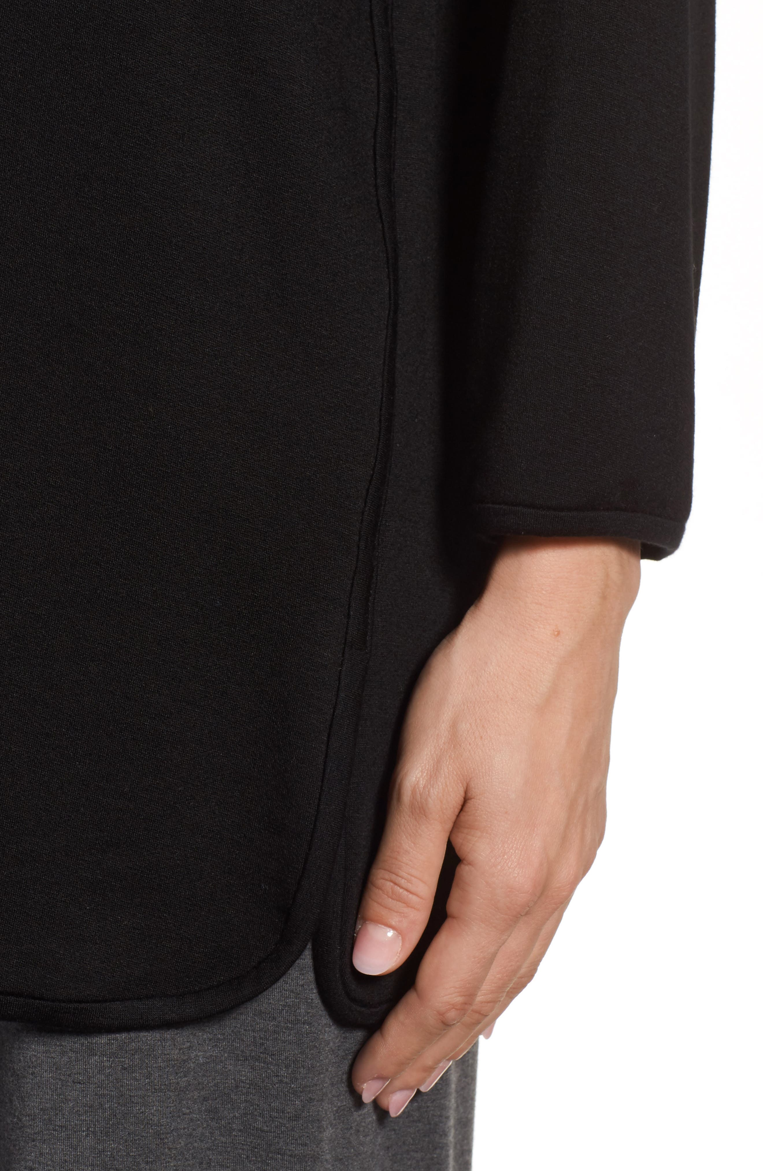 Stretch Tencel<sup>®</sup> Knit Top,                             Alternate thumbnail 4, color,                             001