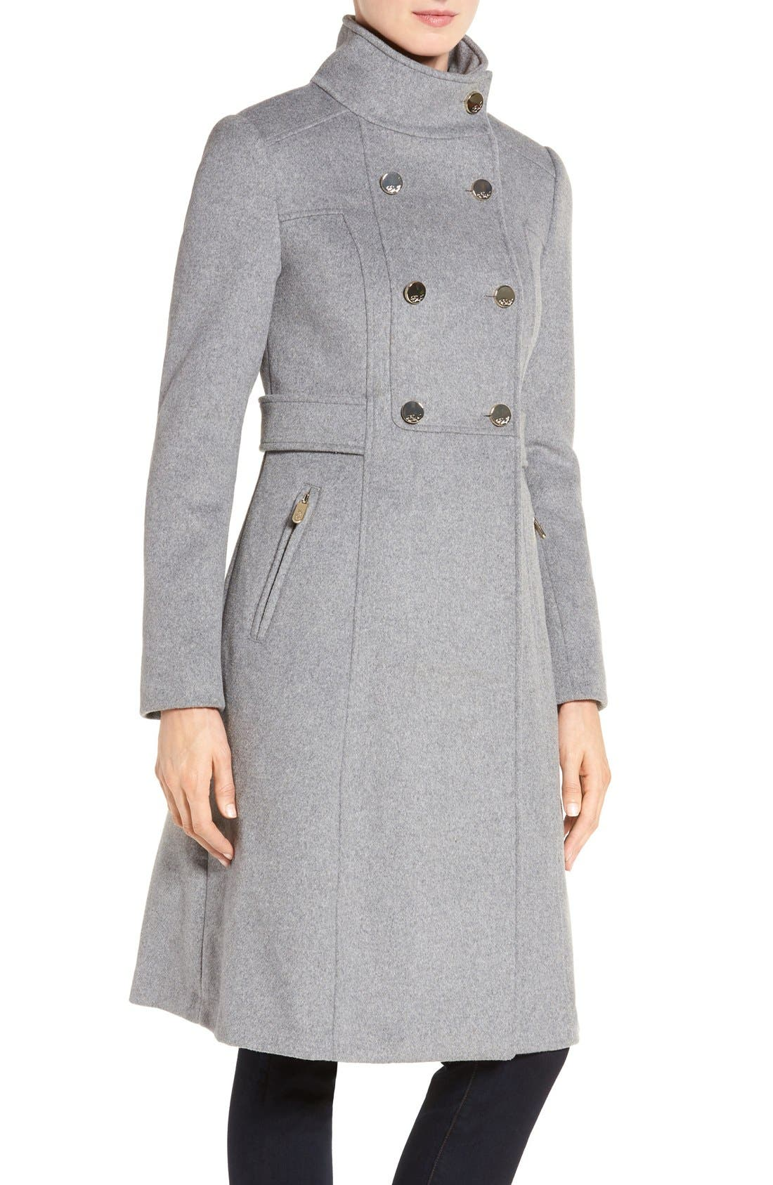 Wool Blend Long Military Coat,                             Alternate thumbnail 17, color,