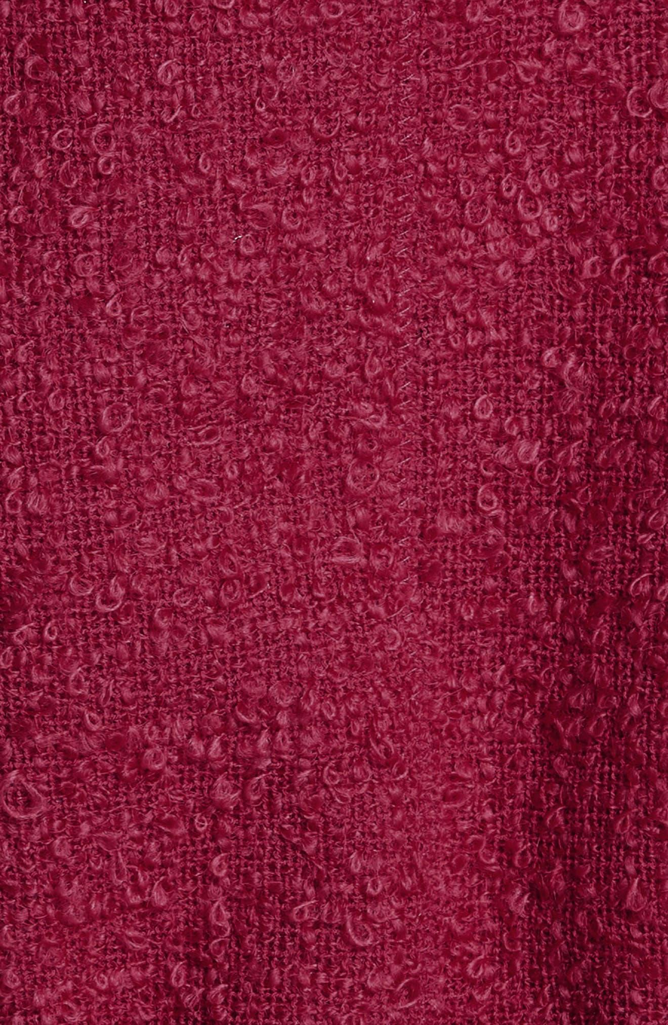Belted Peplum Wool Blend Tweed Jacket,                             Alternate thumbnail 6, color,                             607