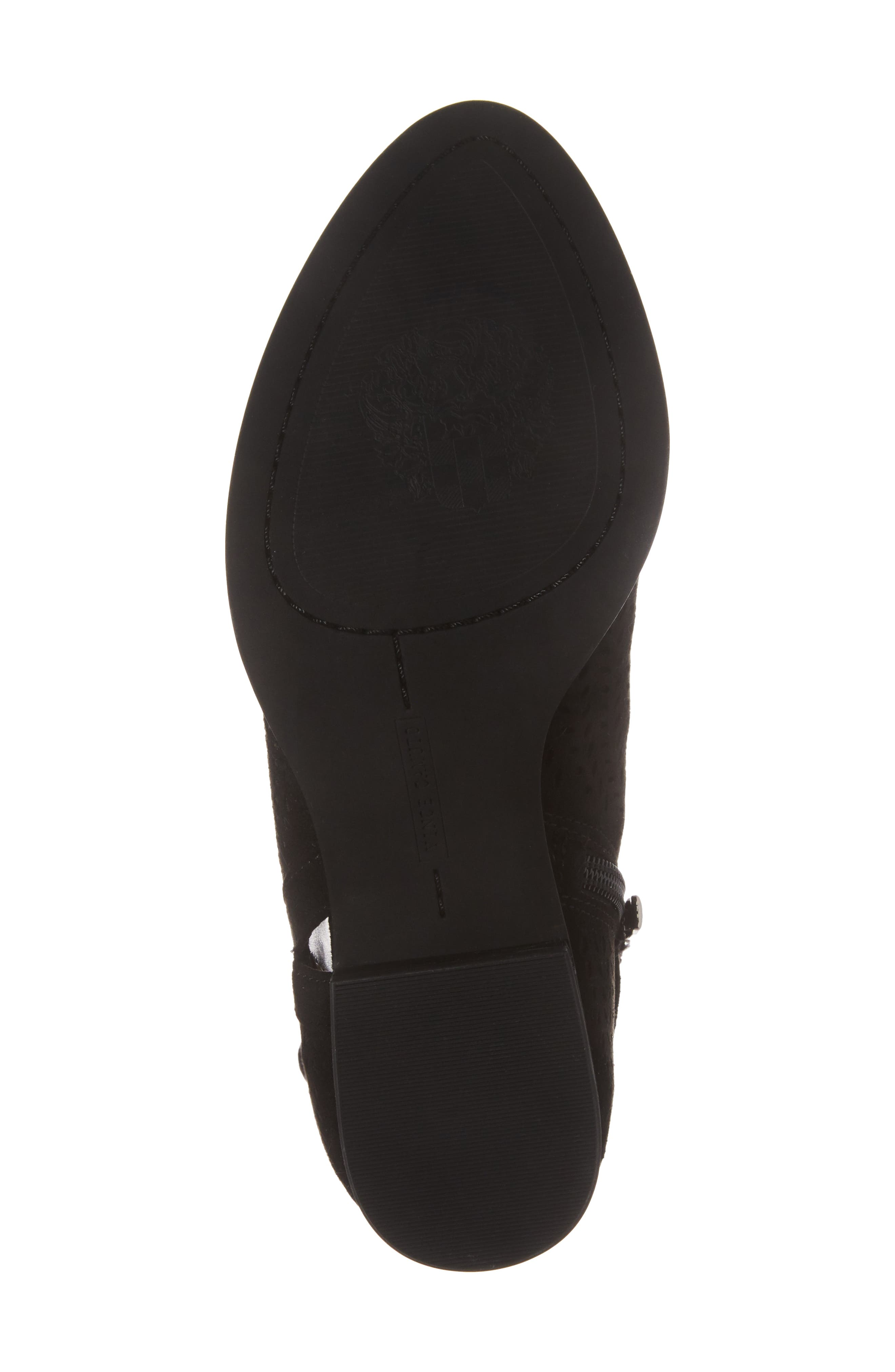 Campina Perforated Bootie,                             Alternate thumbnail 6, color,                             BLACK SUEDE