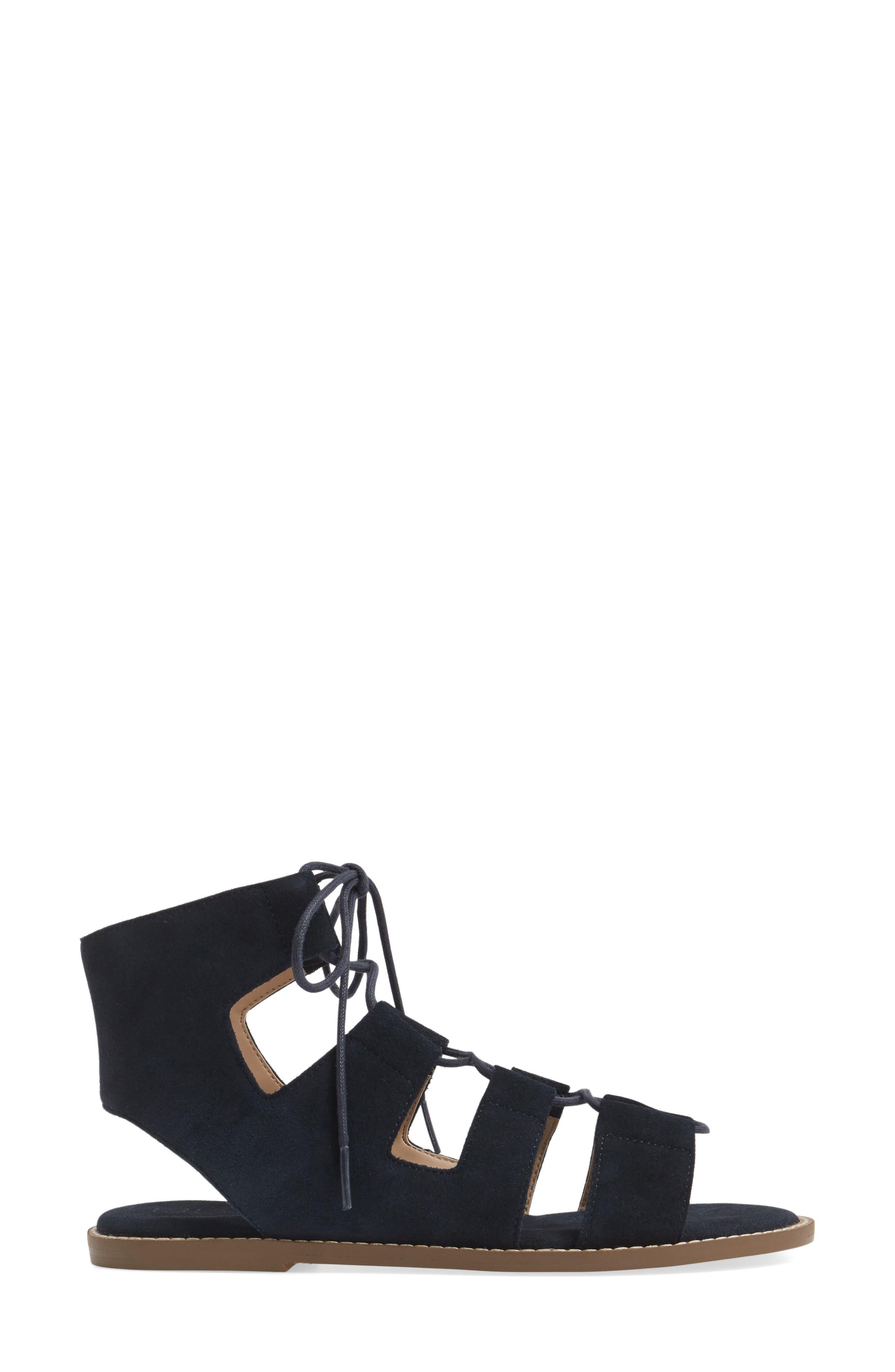 'Cady' Lace-Up Flat Sandal,                             Alternate thumbnail 12, color,