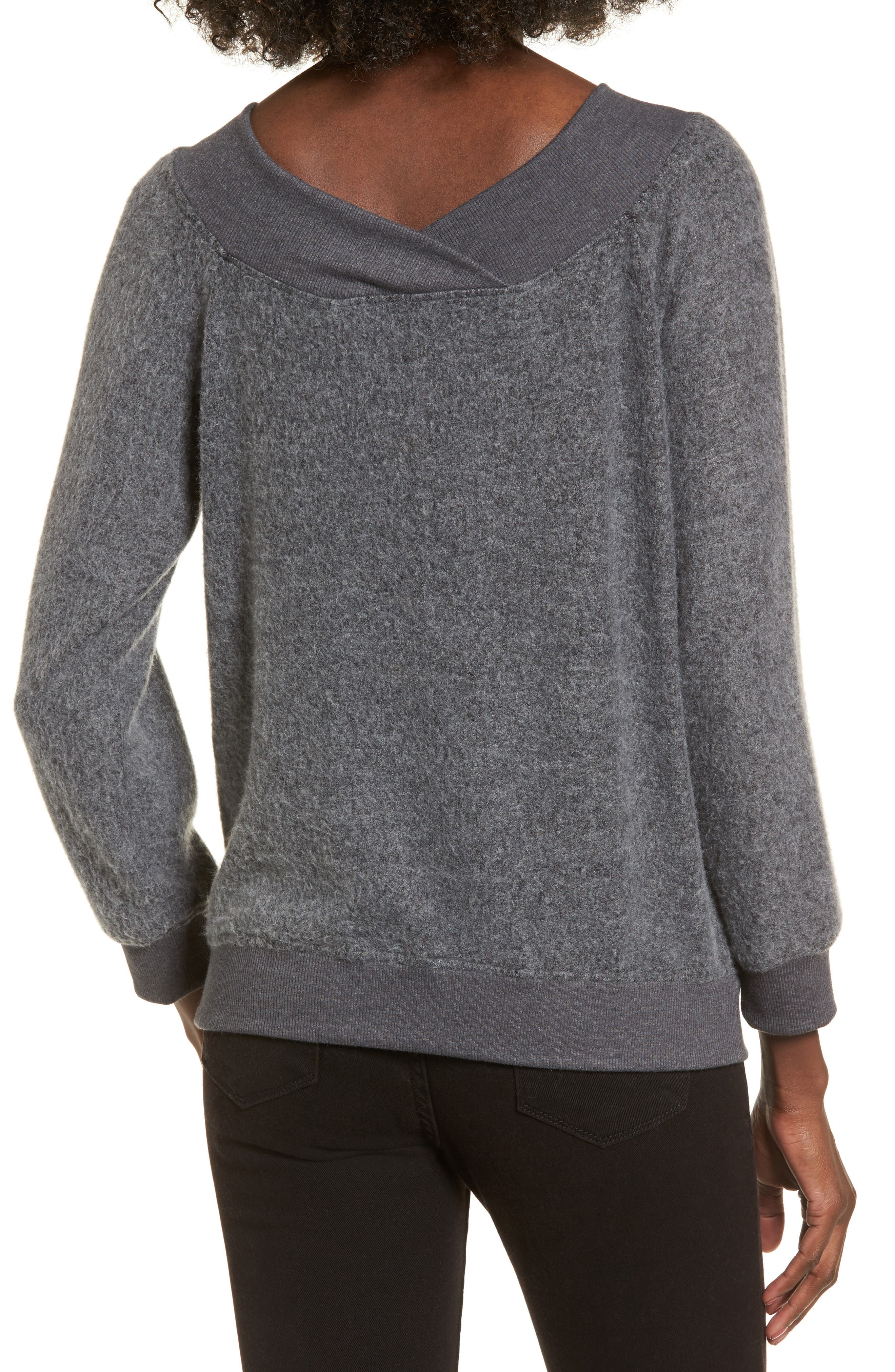 Off the Shoulder Fleece Top,                             Alternate thumbnail 2, color,                             020