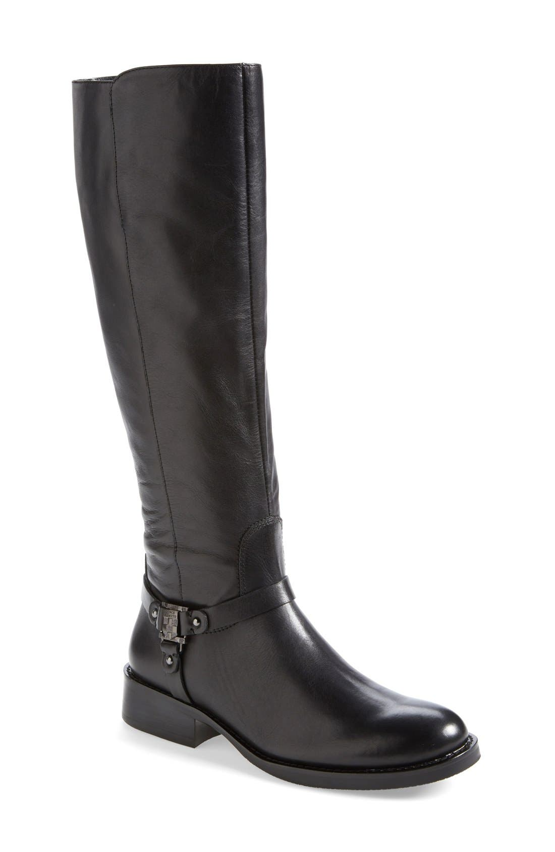 VINCE CAMUTO,                             'Farren' Riding Boot,                             Main thumbnail 1, color,                             001