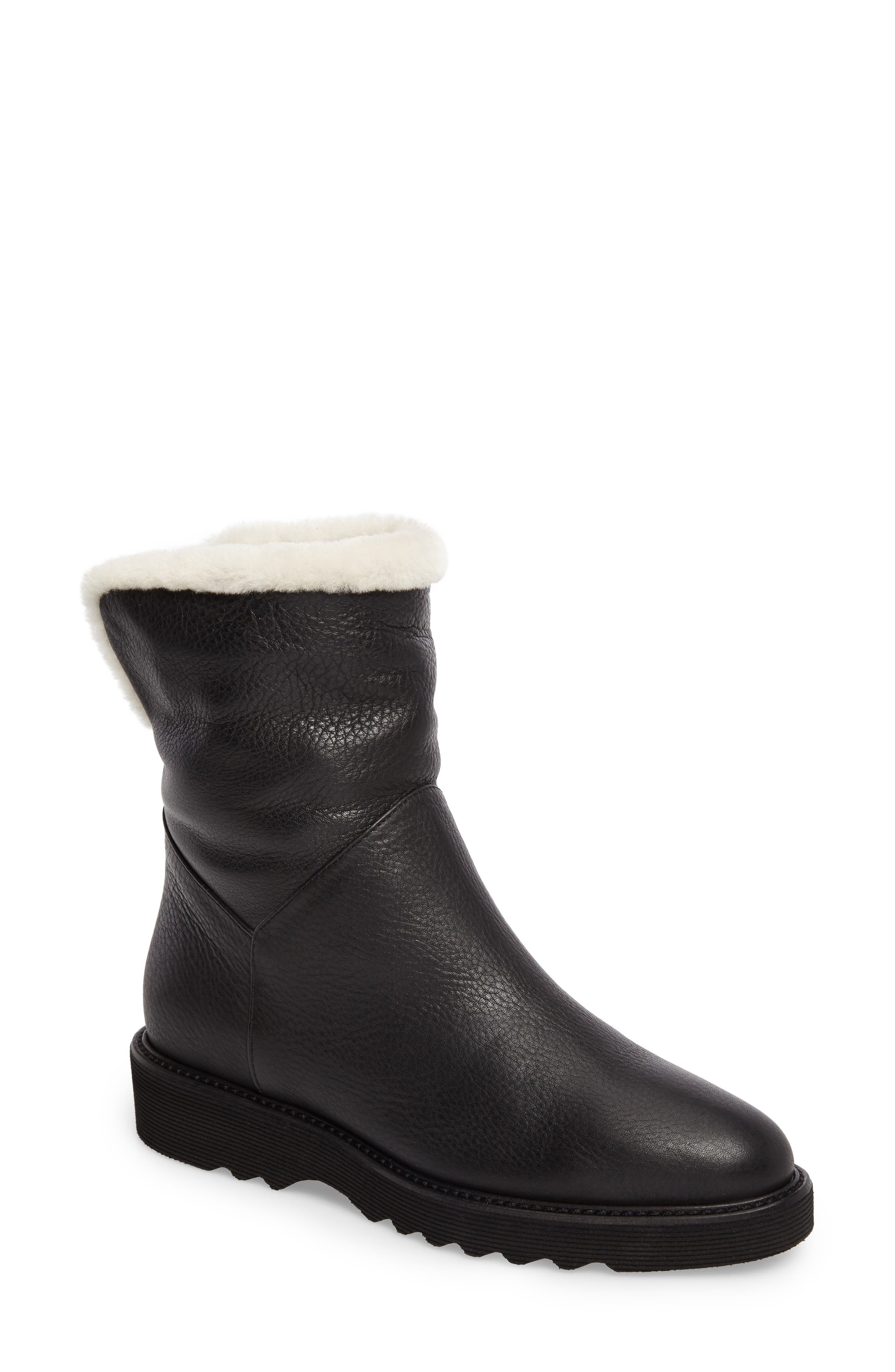 Kimberly Weatherproof Genuine Shearling Bootie,                             Main thumbnail 2, color,