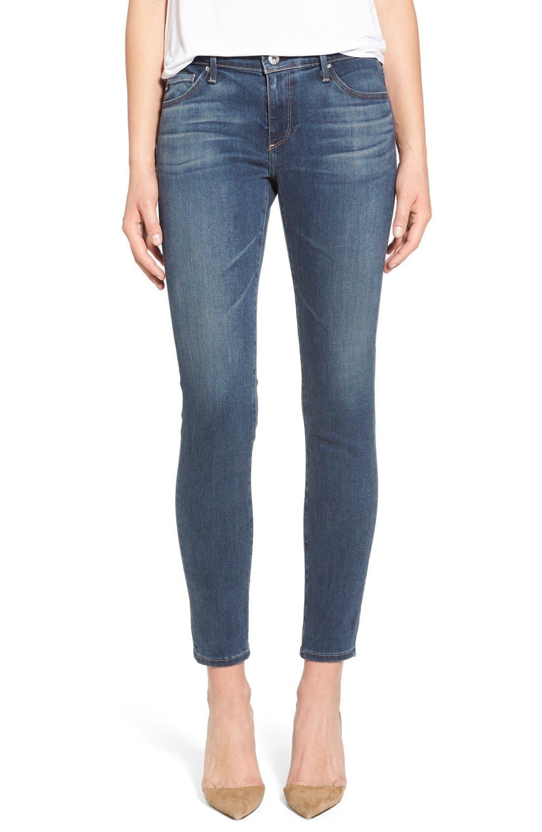 The Legging Ankle Super Skinny Jeans,                             Main thumbnail 1, color,                             401