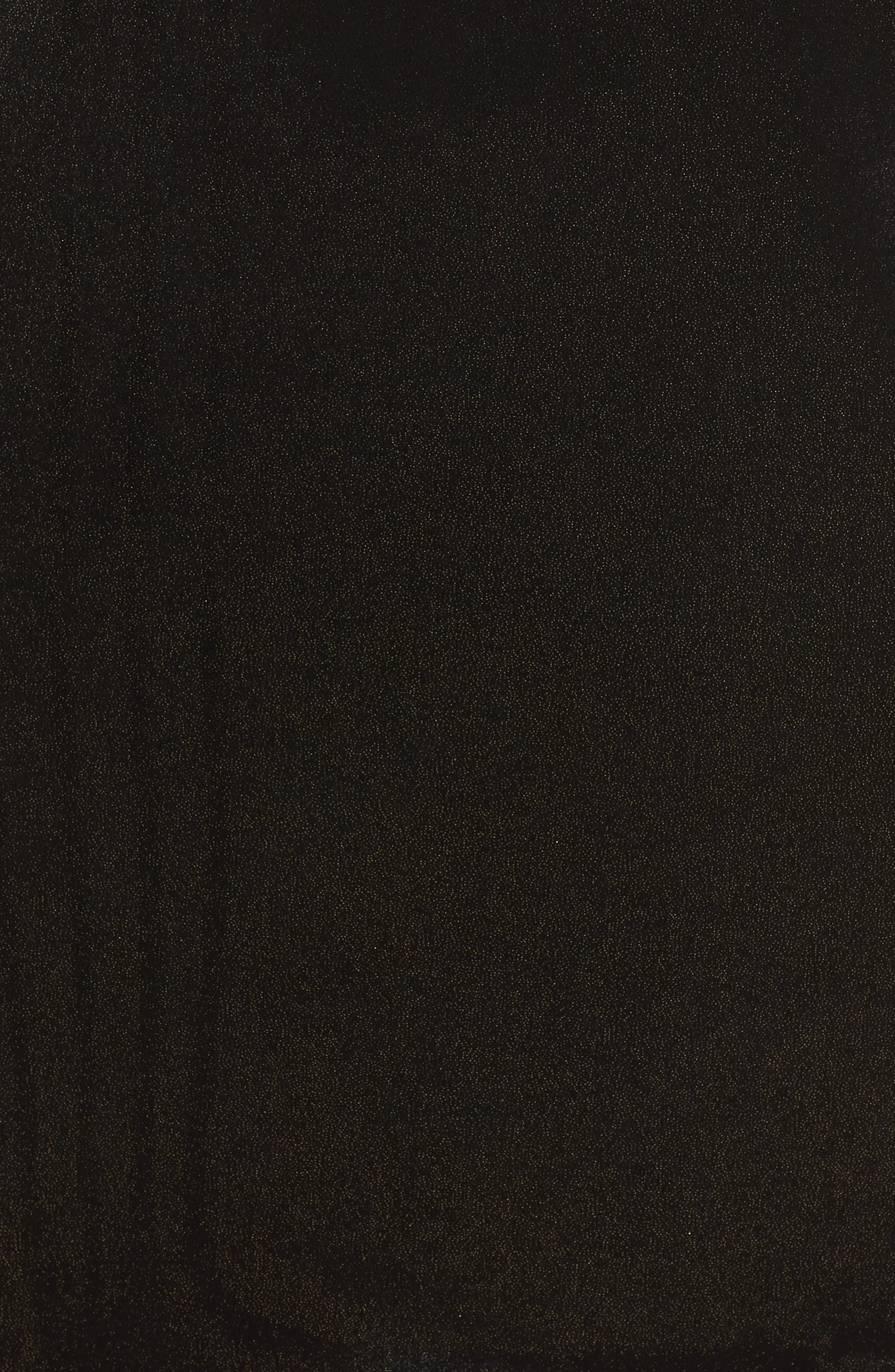 Stretch Velvet Shift Dress,                             Alternate thumbnail 6, color,                             001