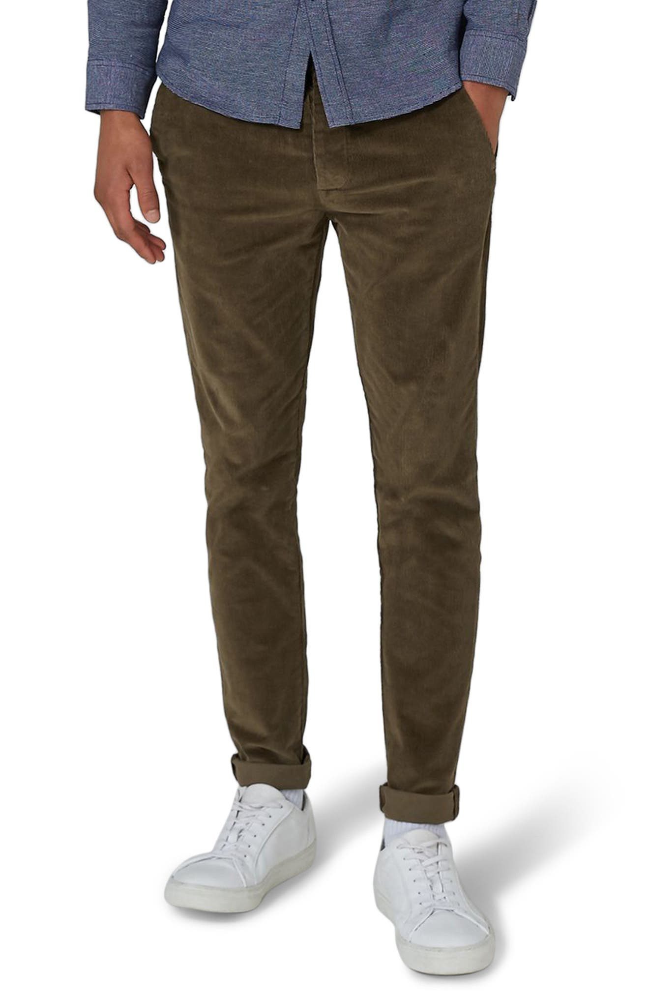 Skinny Fit Corduroy Trousers,                             Main thumbnail 1, color,