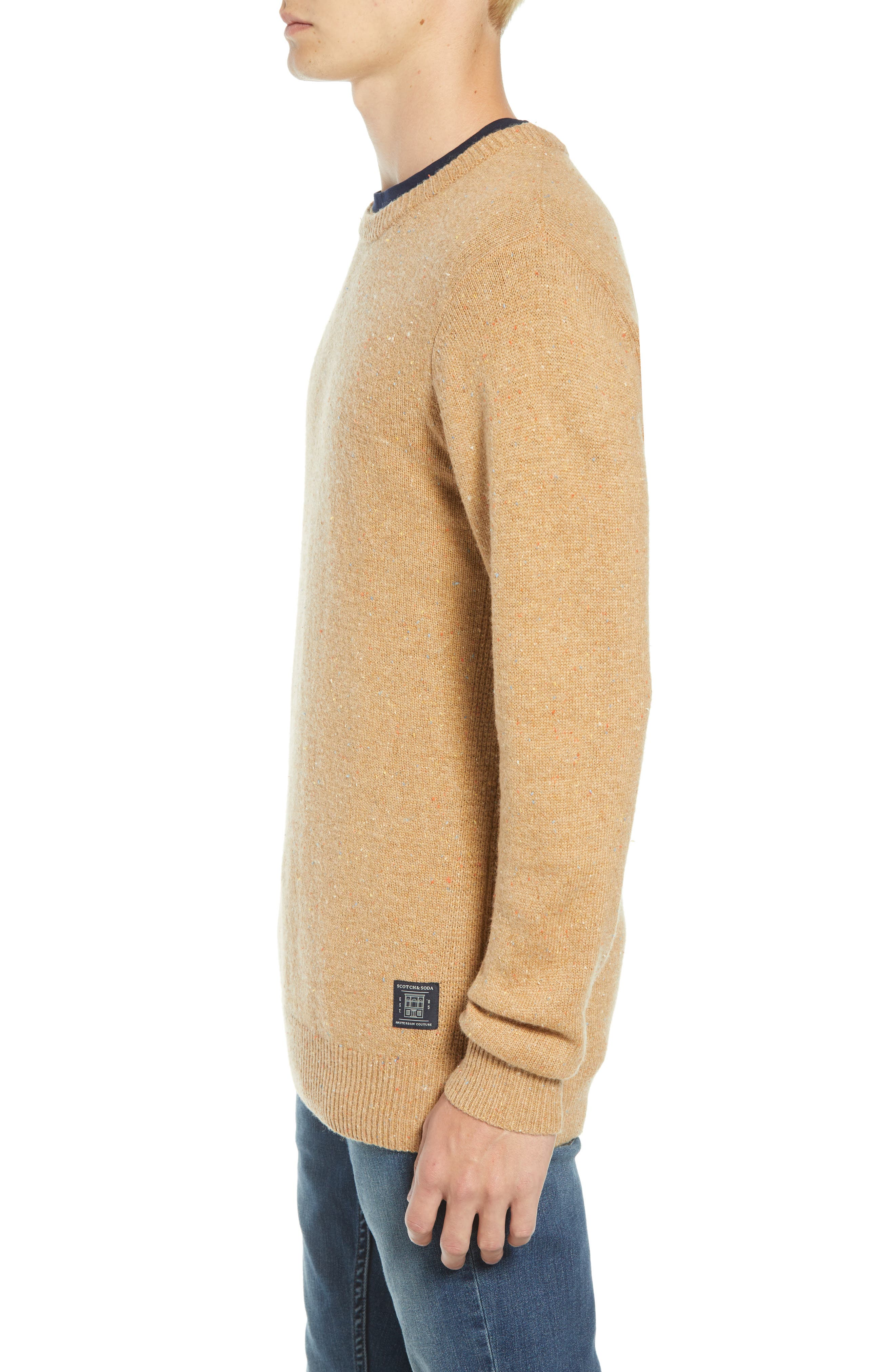 SCOTCH & SODA,                             Nepped Wool Blend Sweater,                             Alternate thumbnail 3, color,                             COMBO E