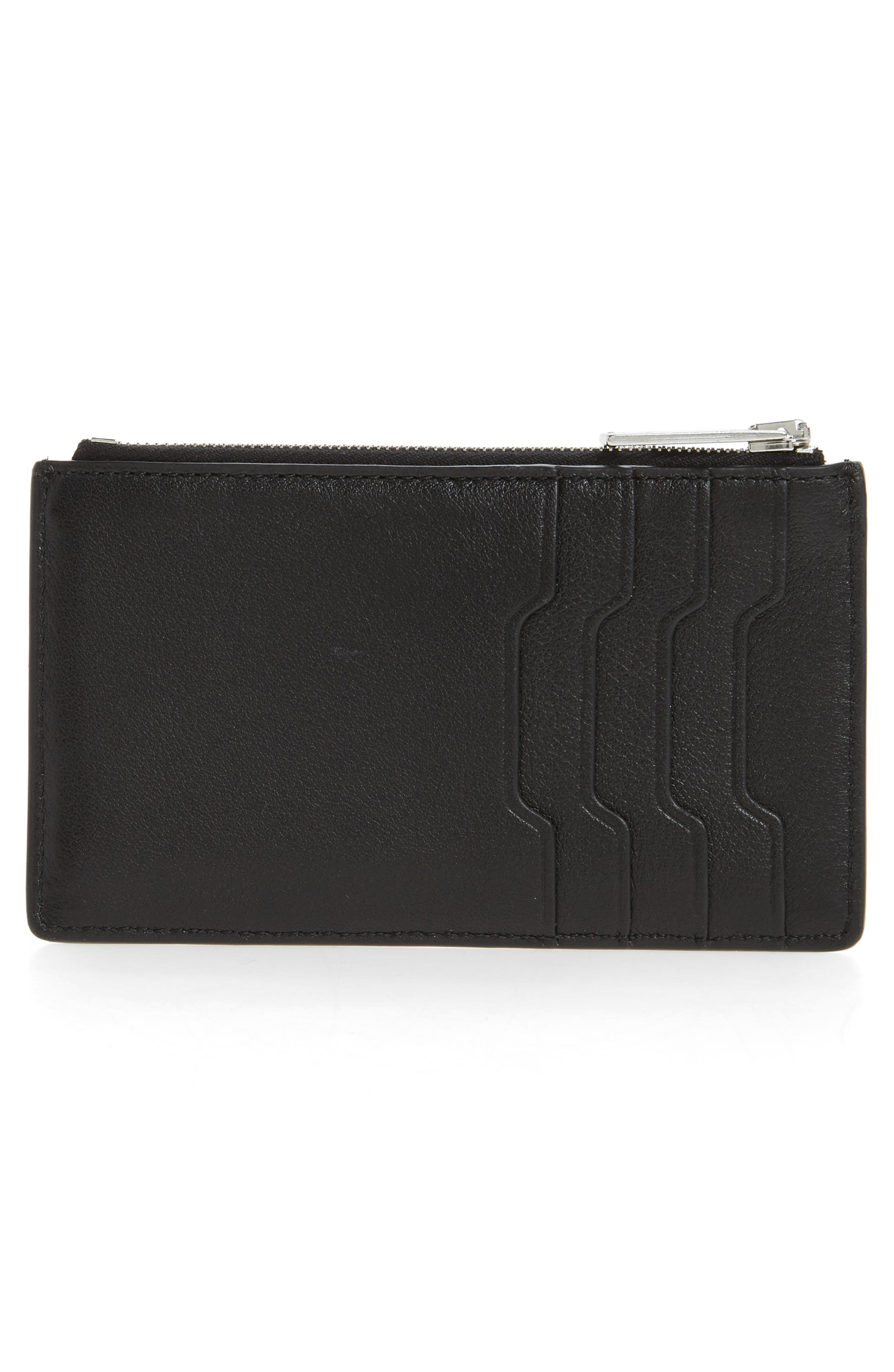 Studded Leather Card Case,                             Alternate thumbnail 3, color,                             001