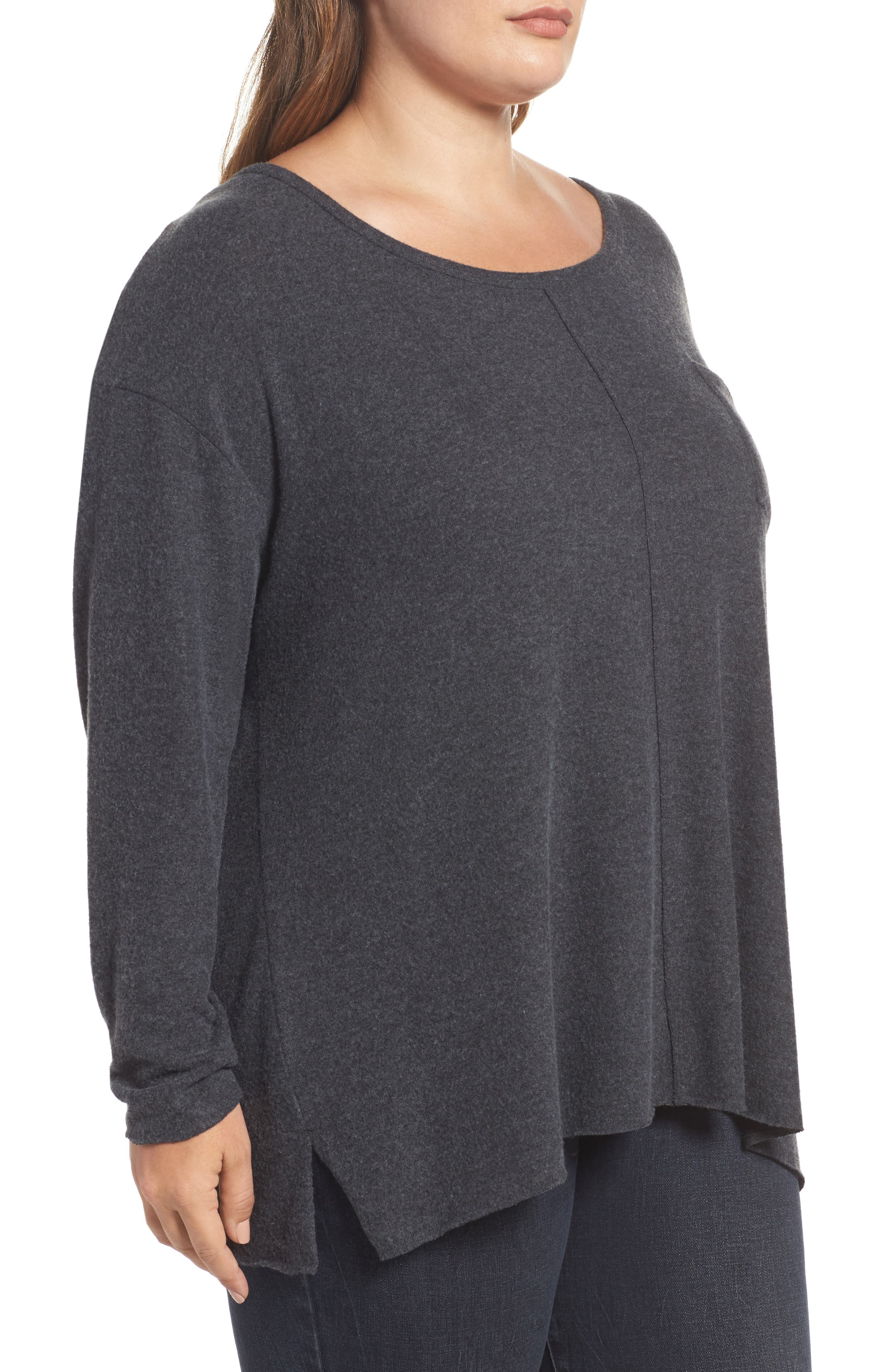 Drop Shoulder Pocket Top,                             Alternate thumbnail 8, color,