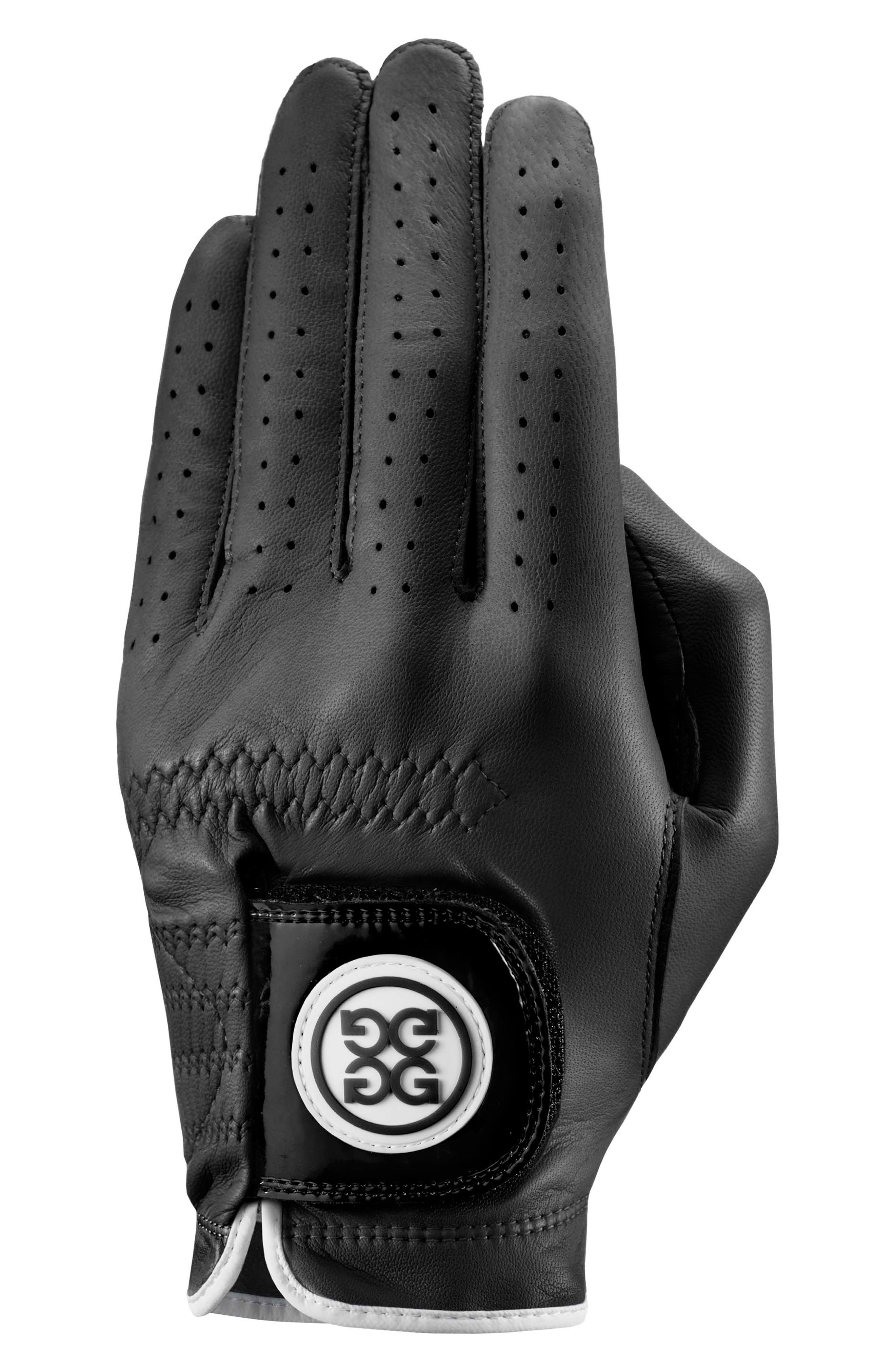G/fore The Collection Leather Golf Glove, Black