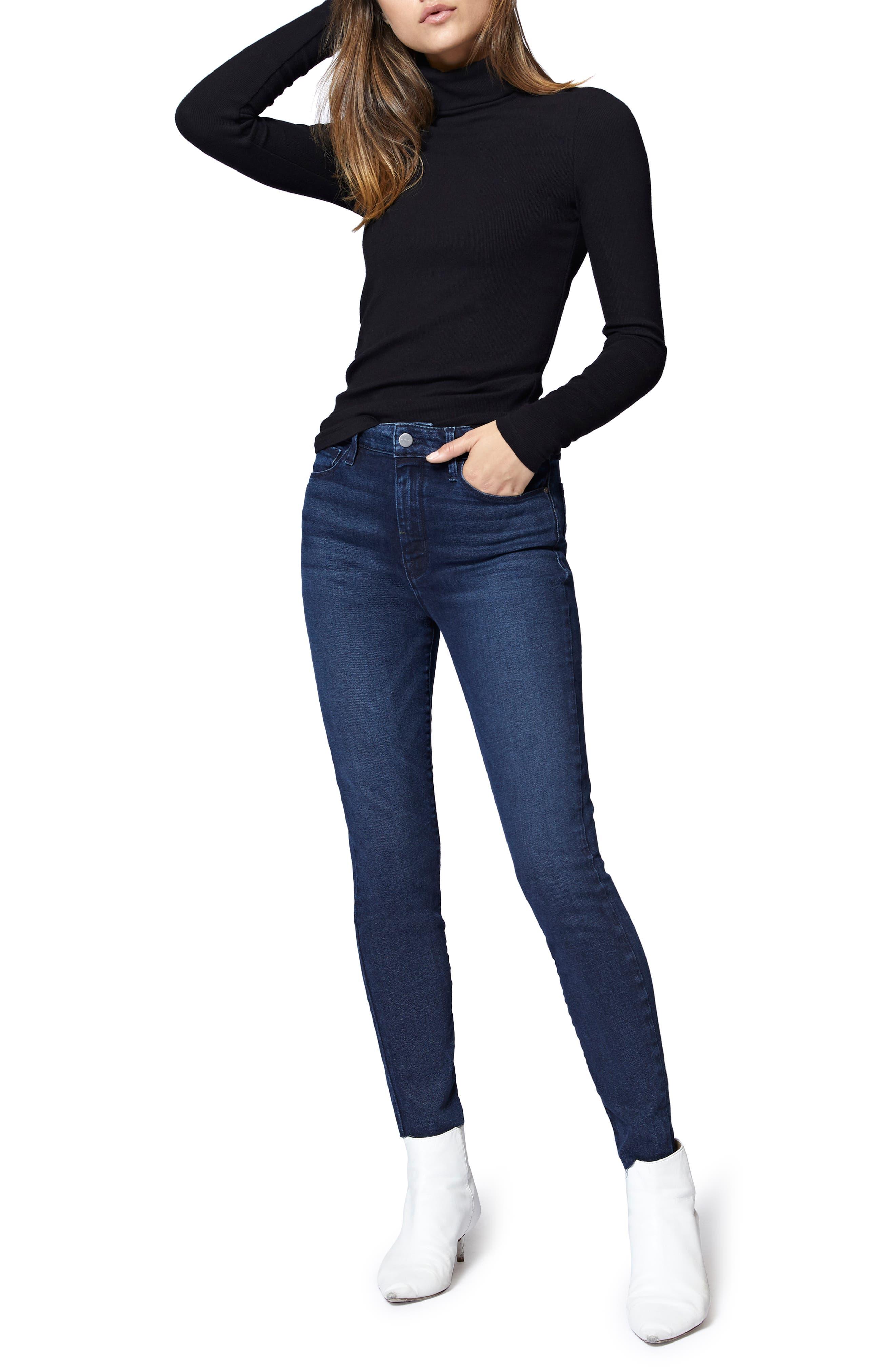 SANCTUARY,                             Social High Rise Raw Hem Skinny Ankle Jeans,                             Alternate thumbnail 7, color,                             401