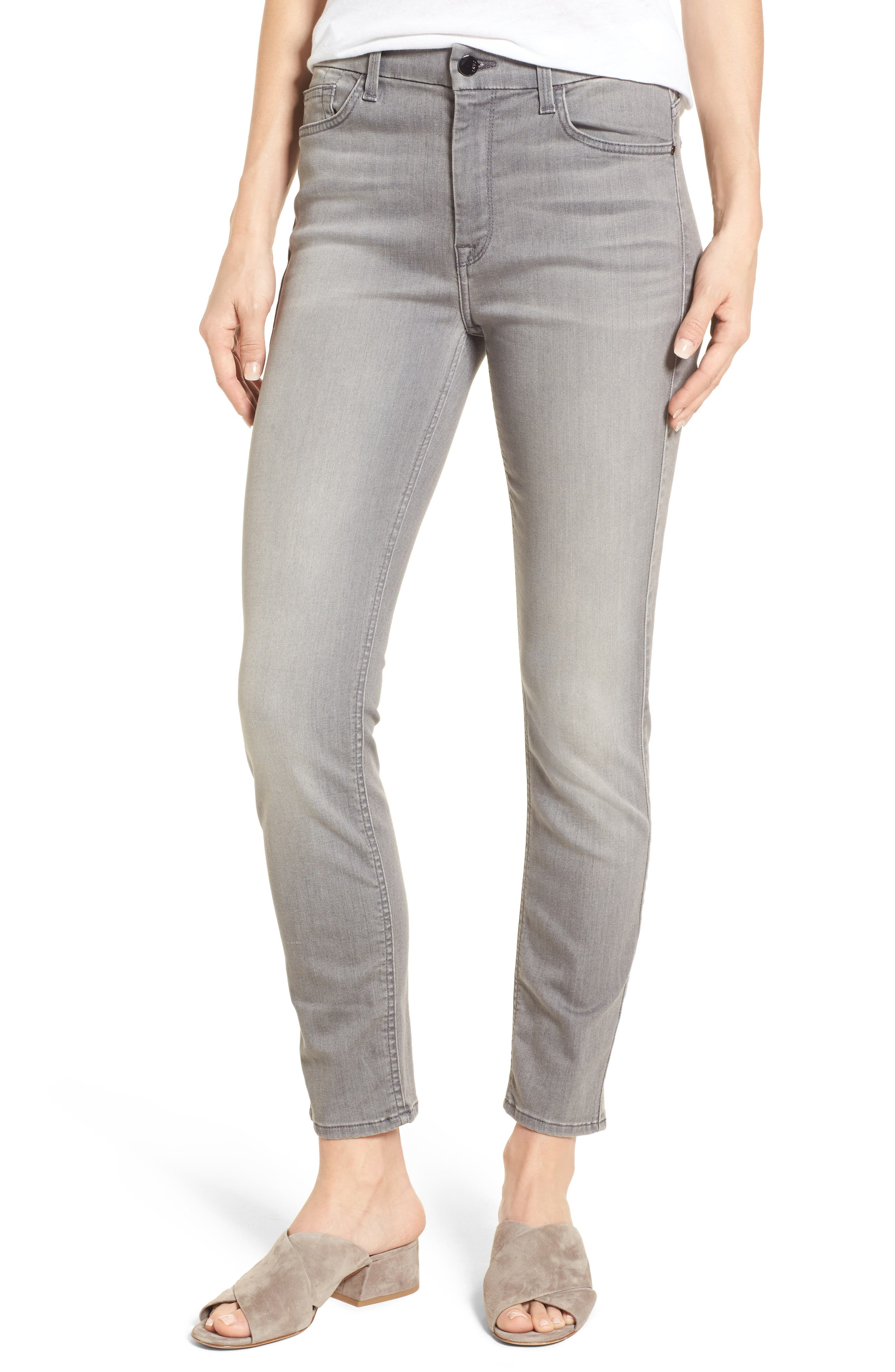 Stretch Ankle Skinny Jeans,                             Main thumbnail 1, color,                             RICHE TOUCH MARBLE GREY