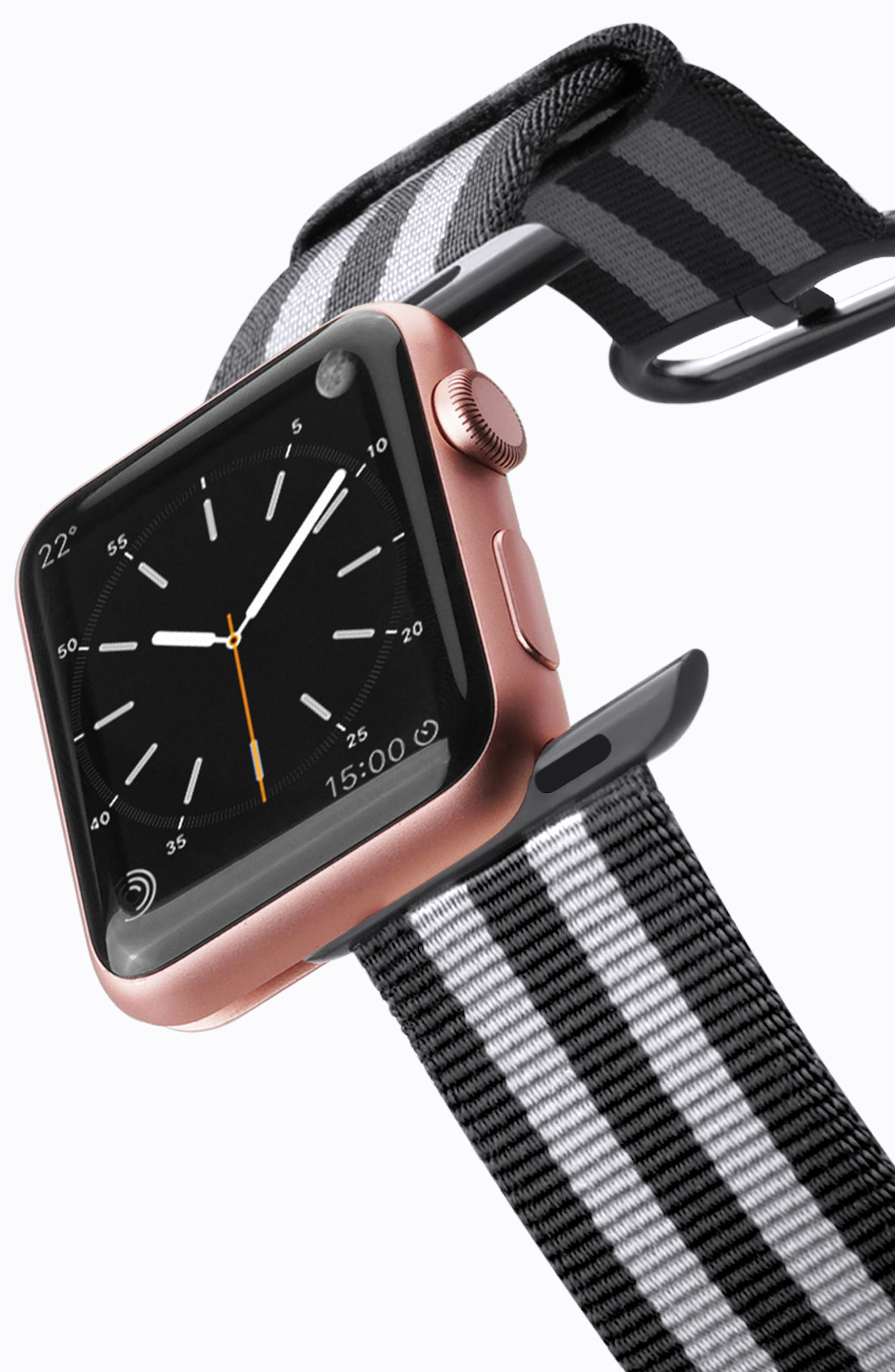 Nylon Apple Watch Strap, 38mm,                             Alternate thumbnail 10, color,