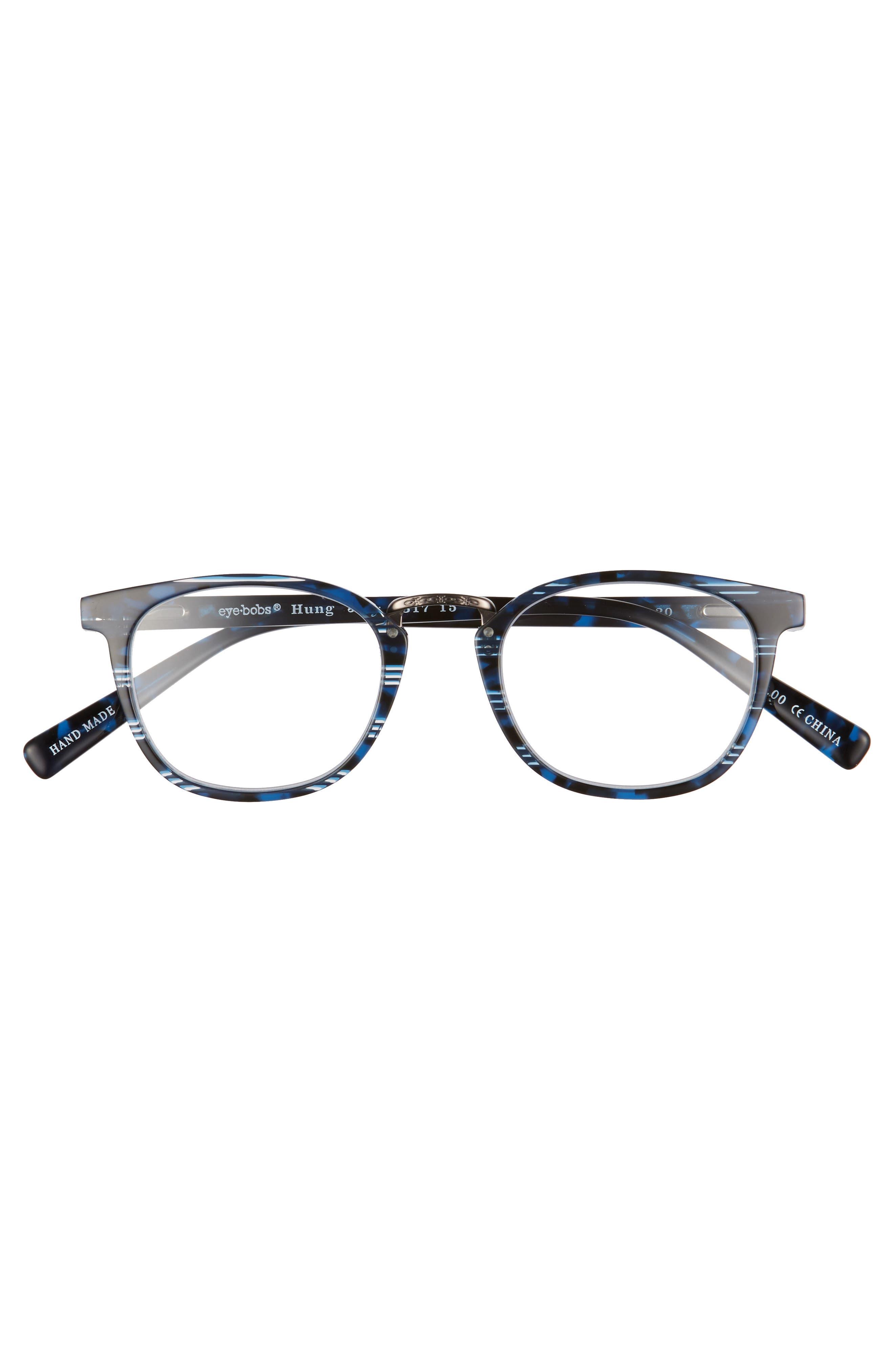 Hung Jury 46mm Reading Glasses,                             Alternate thumbnail 2, color,                             BLUE TORTOISE