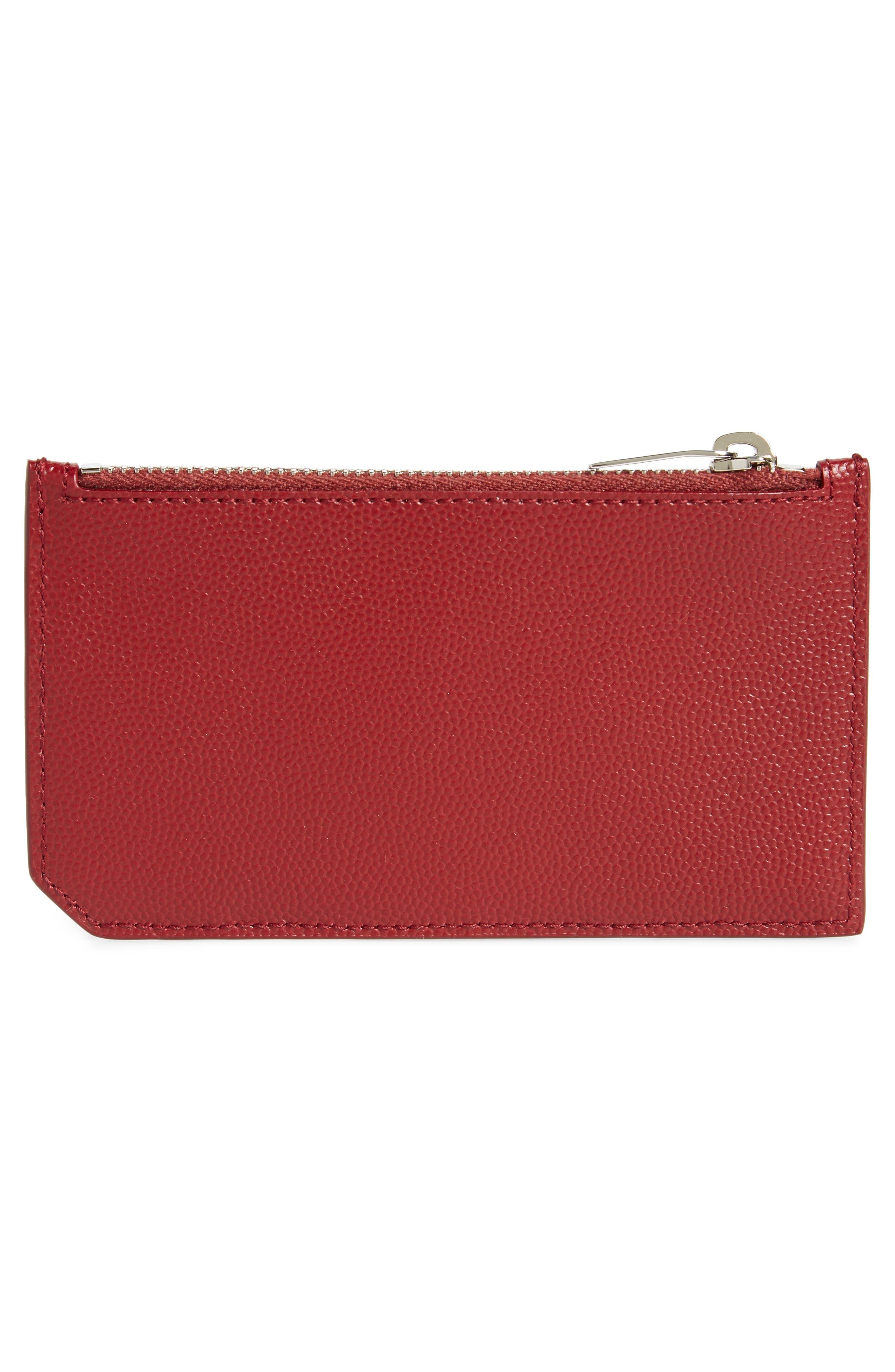 Pebble Grain Leather Zip Wallet,                             Alternate thumbnail 4, color,