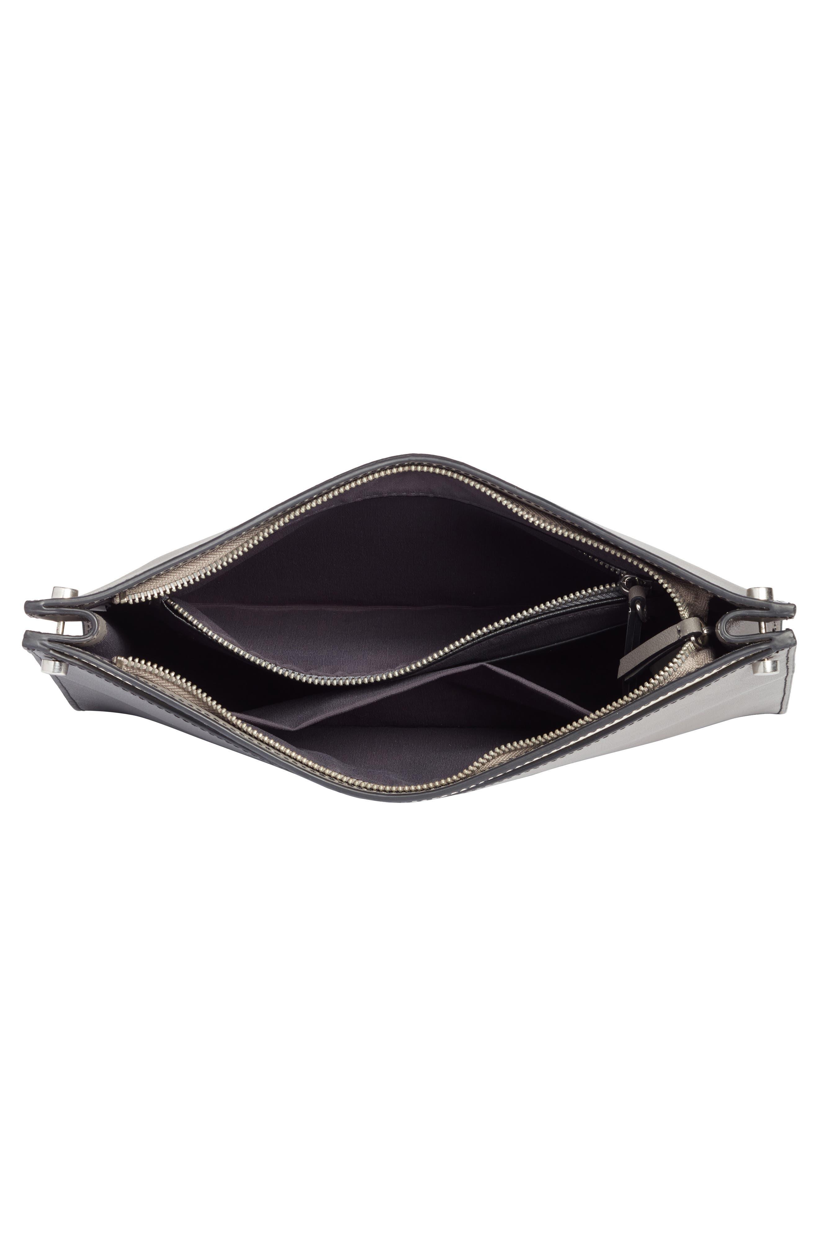 Harrison Leather Shoulder Bag,                             Alternate thumbnail 4, color,                             001