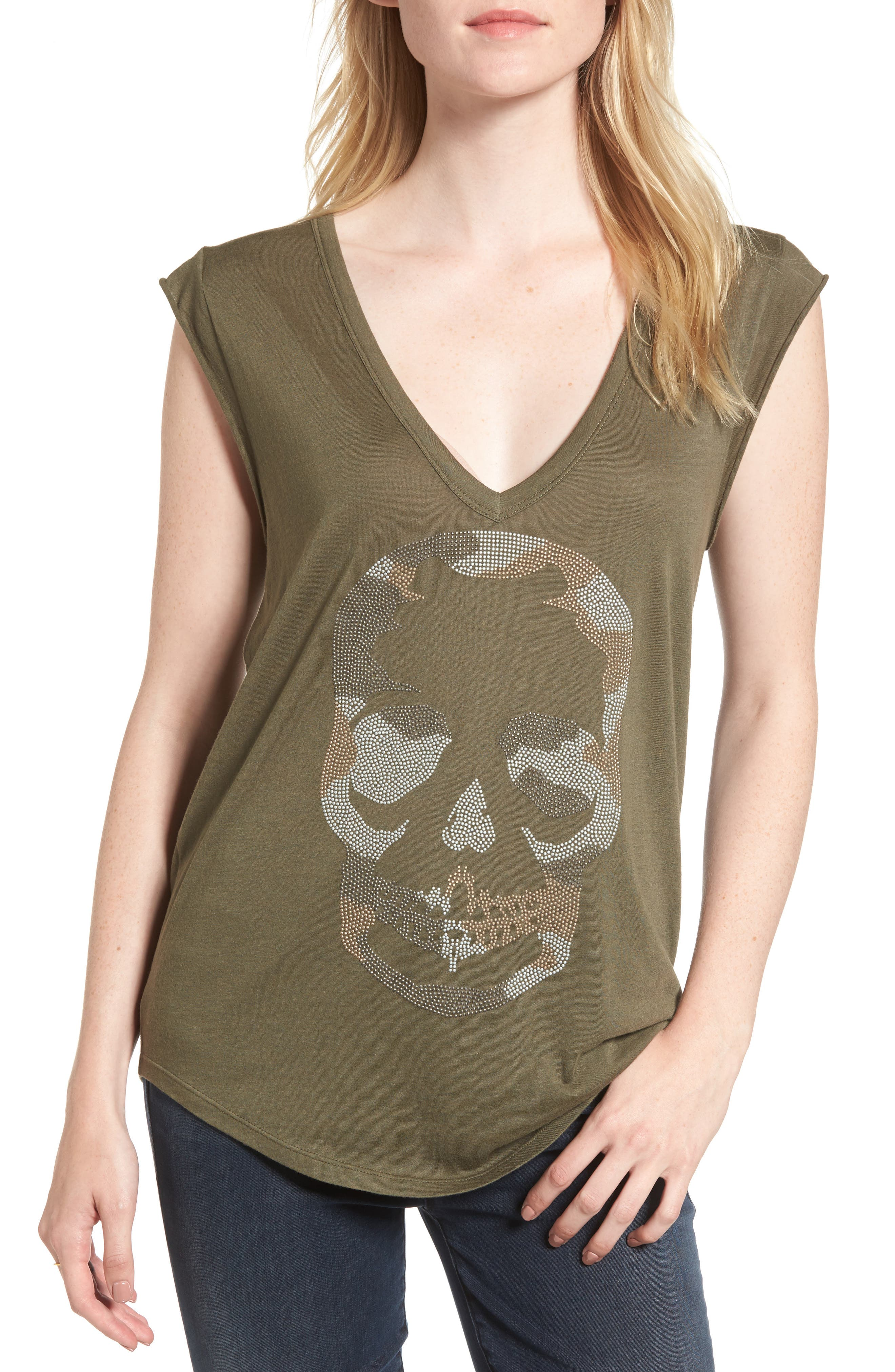 Skull Tee,                             Main thumbnail 2, color,