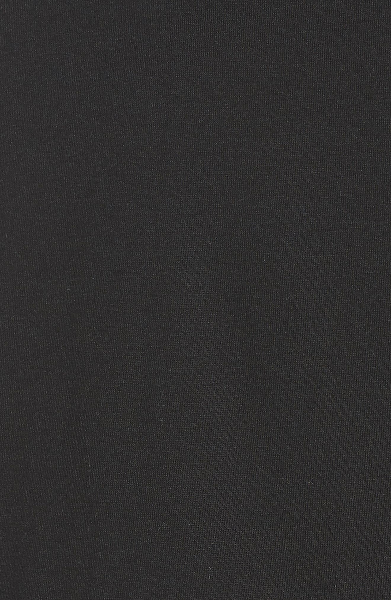 Mix Media Cotton Blend Peplum Top,                             Alternate thumbnail 6, color,                             001