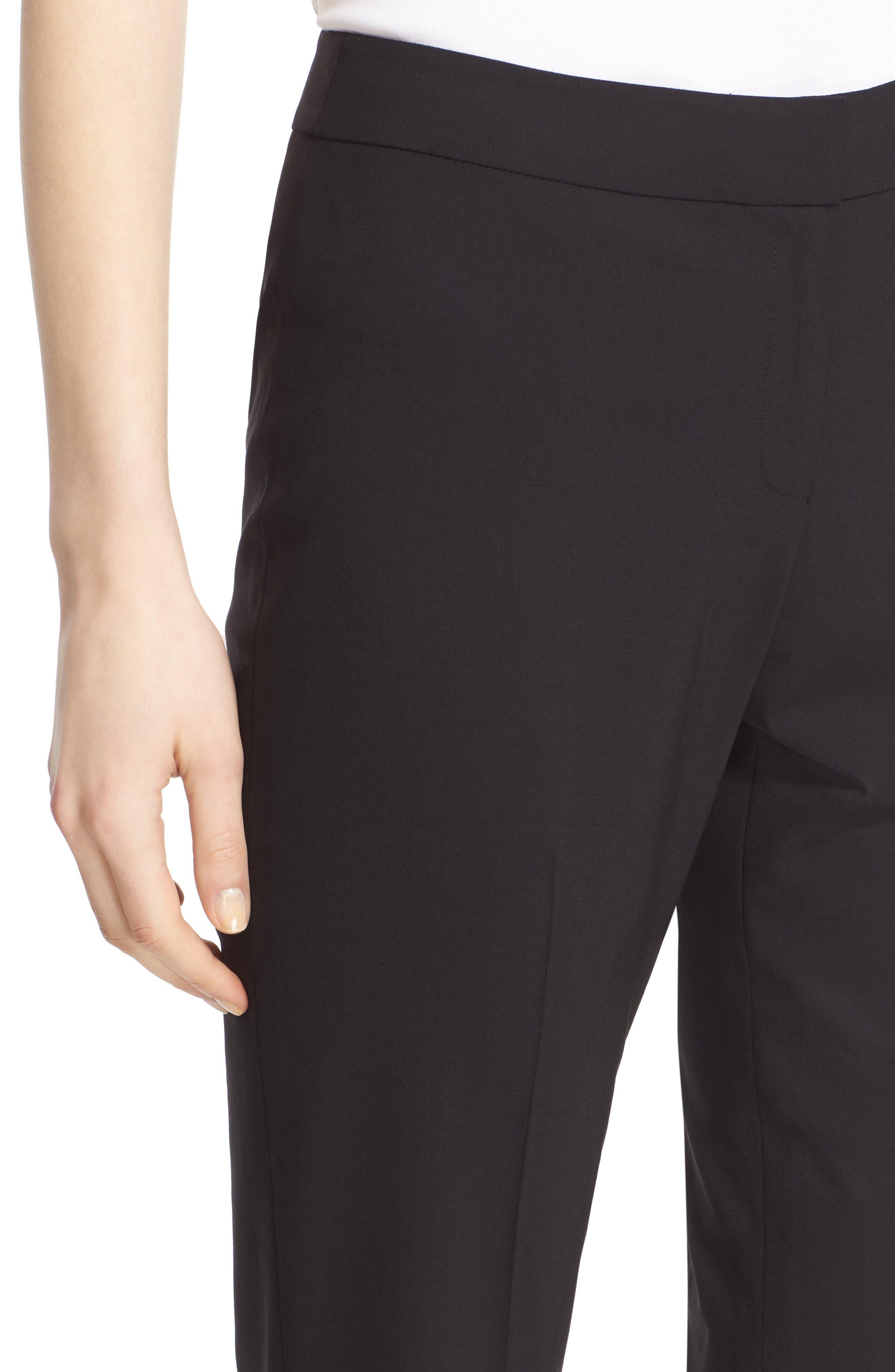 Barrow Stretch Wool Pants,                             Alternate thumbnail 4, color,                             BLACK