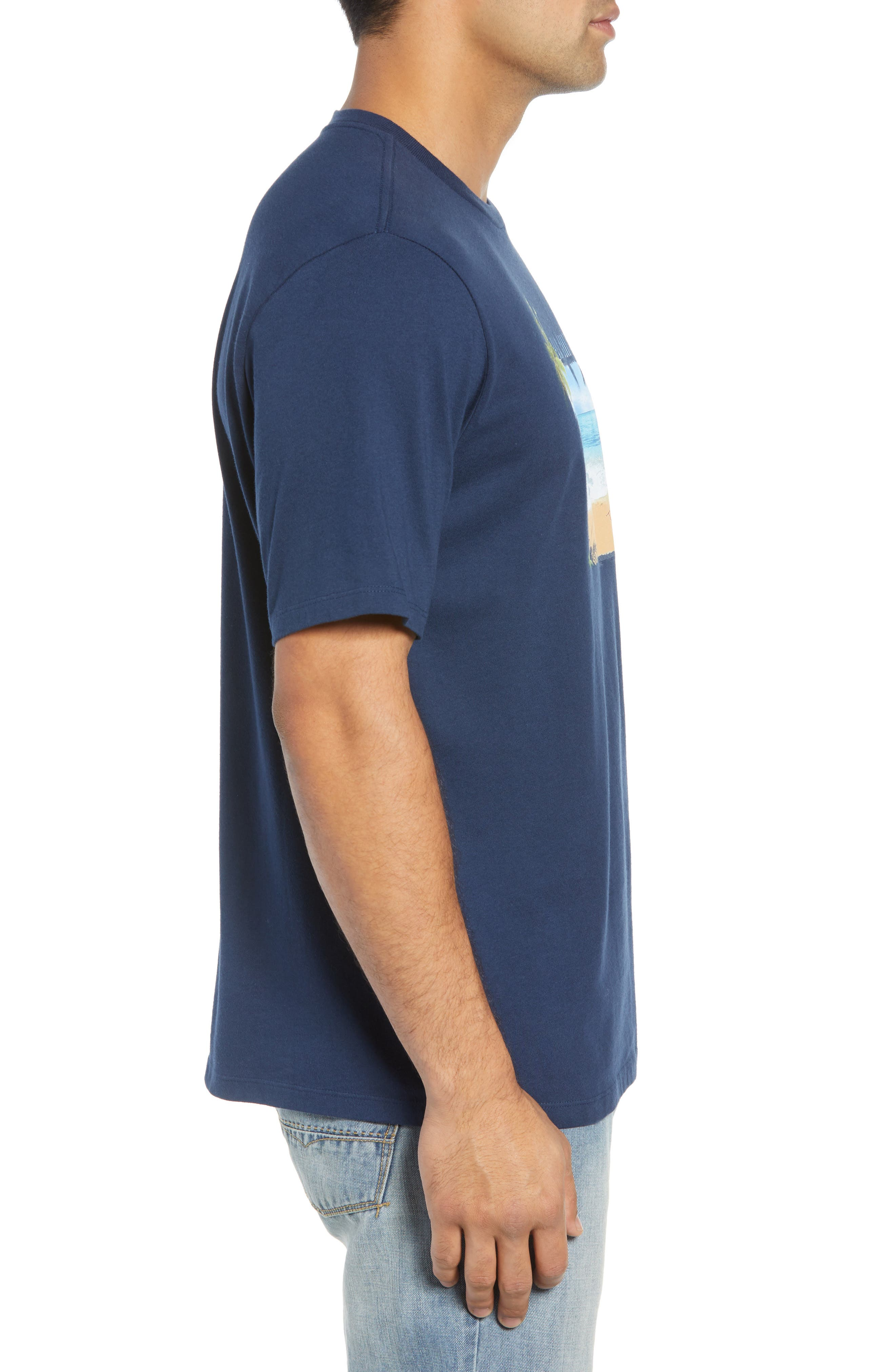 Palm Conditions T-Shirt,                             Alternate thumbnail 3, color,                             NAVY