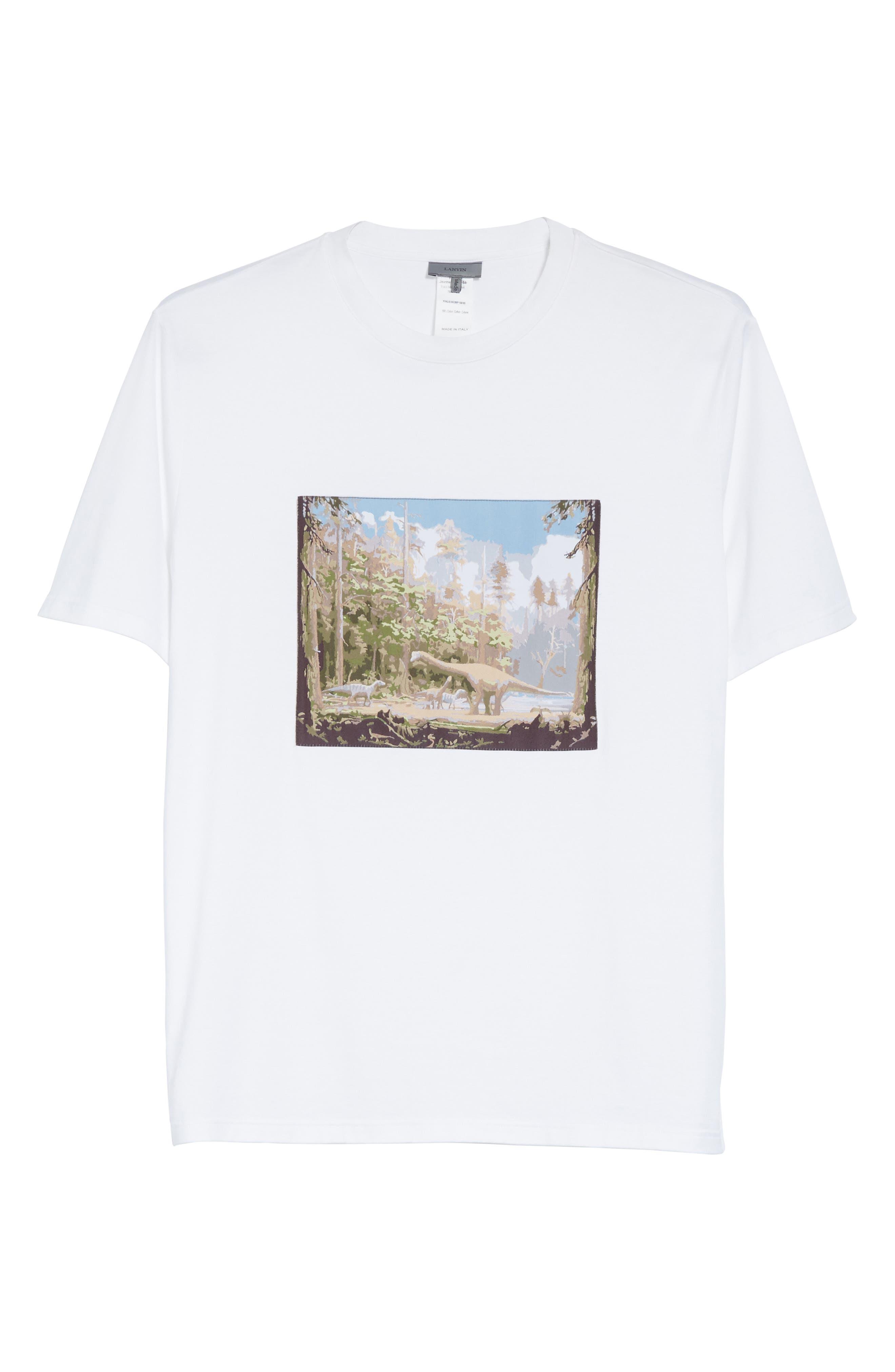 Dinosaur Patch T-Shirt,                             Alternate thumbnail 6, color,                             100