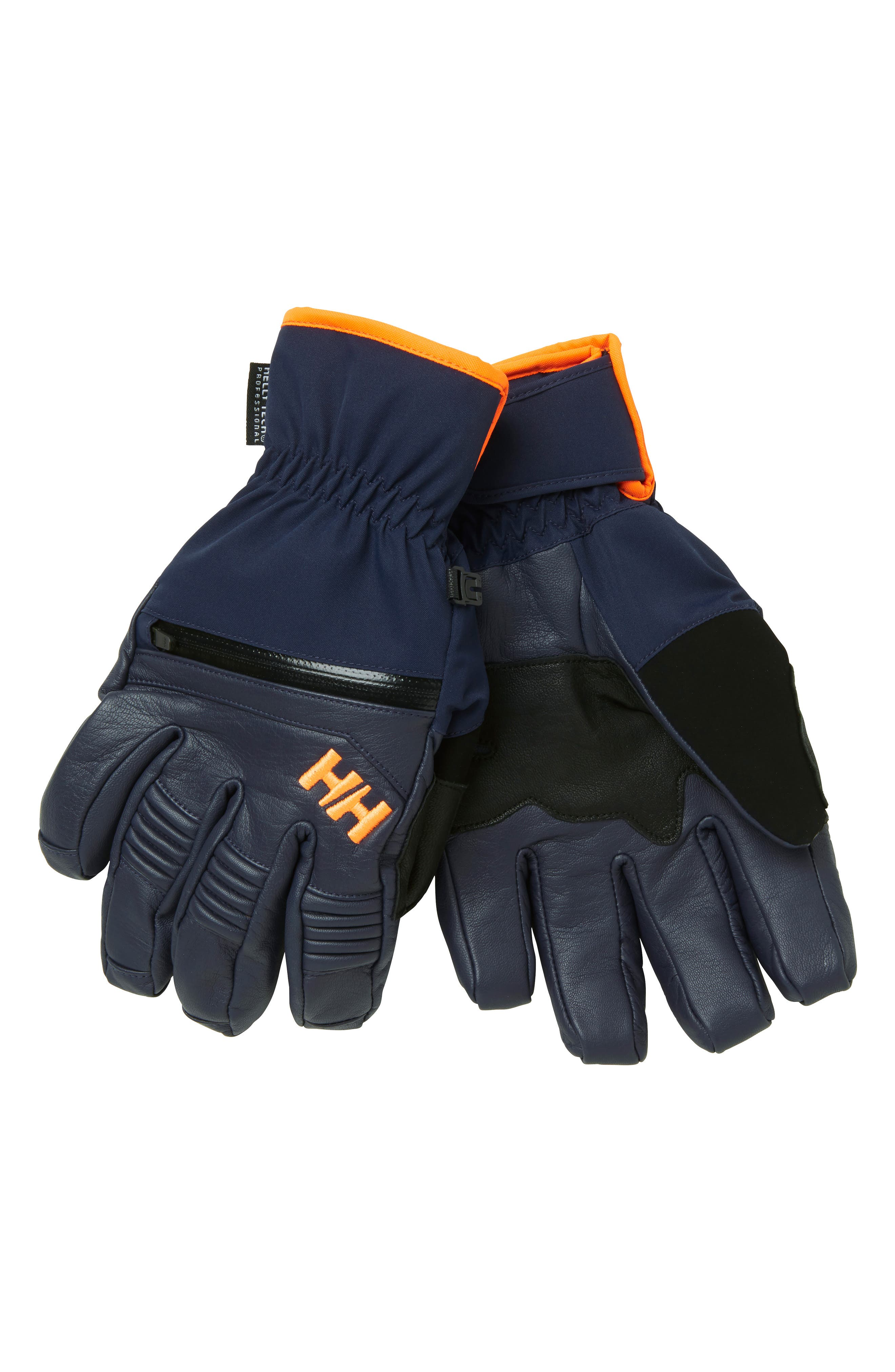 Helly Hansen Alpha Warm Helly Tech Ski Gloves, Grey