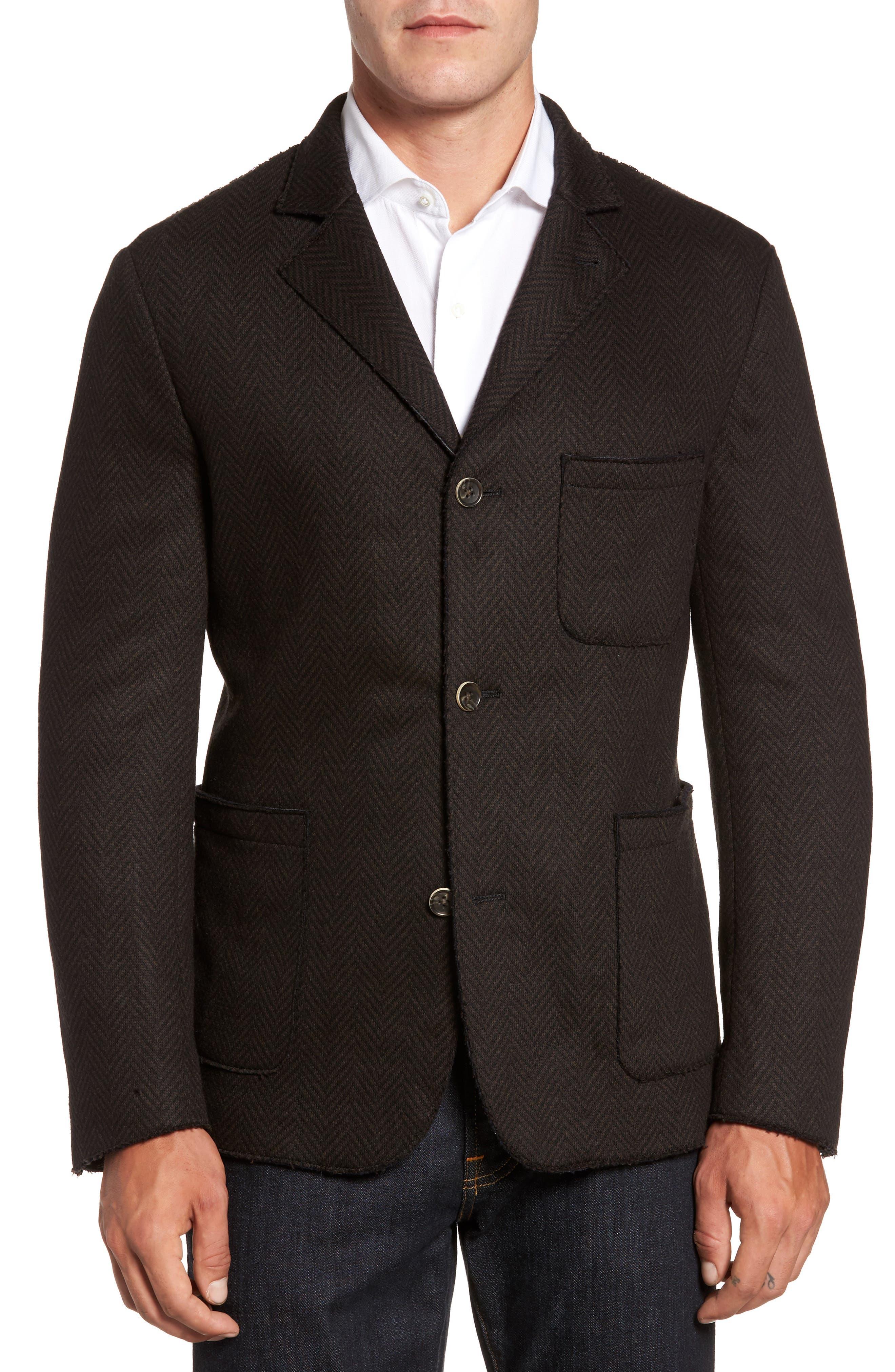 Laser Edge Wool Blend Jersey Sport Coat,                         Main,                         color, 201
