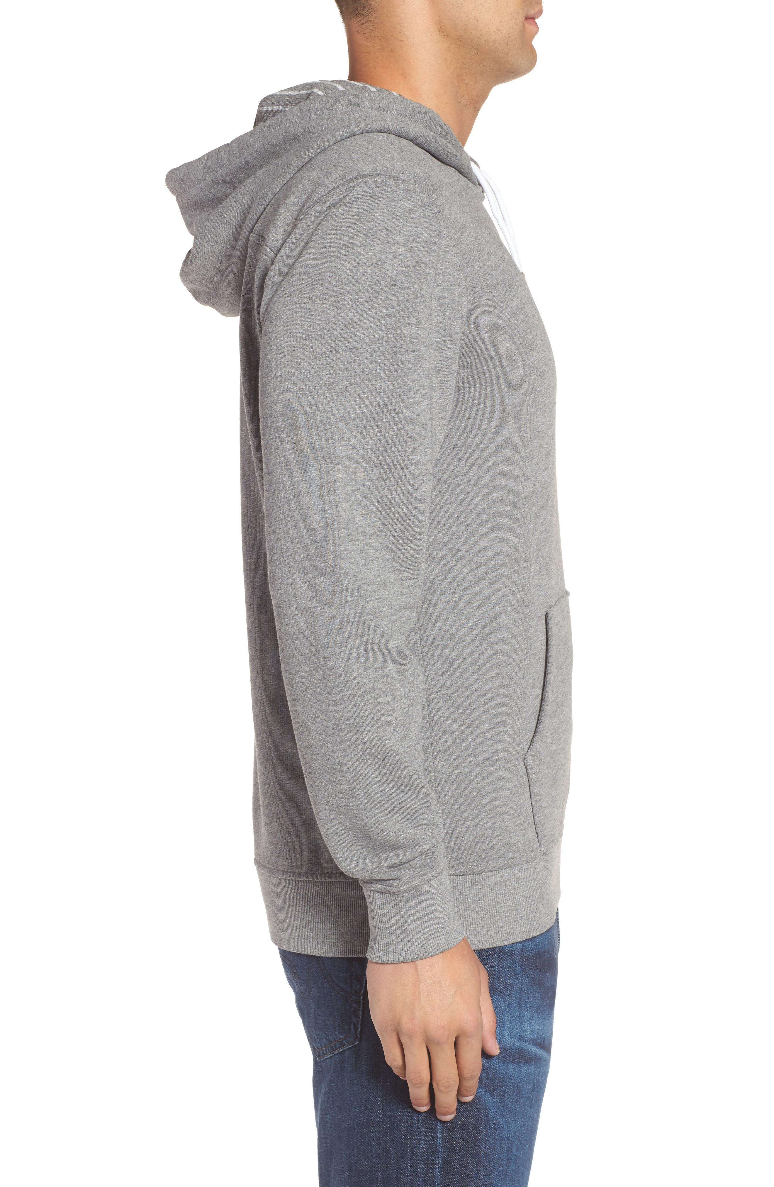 Washed Cotton Pullover Hoodie,                             Alternate thumbnail 3, color,                             030