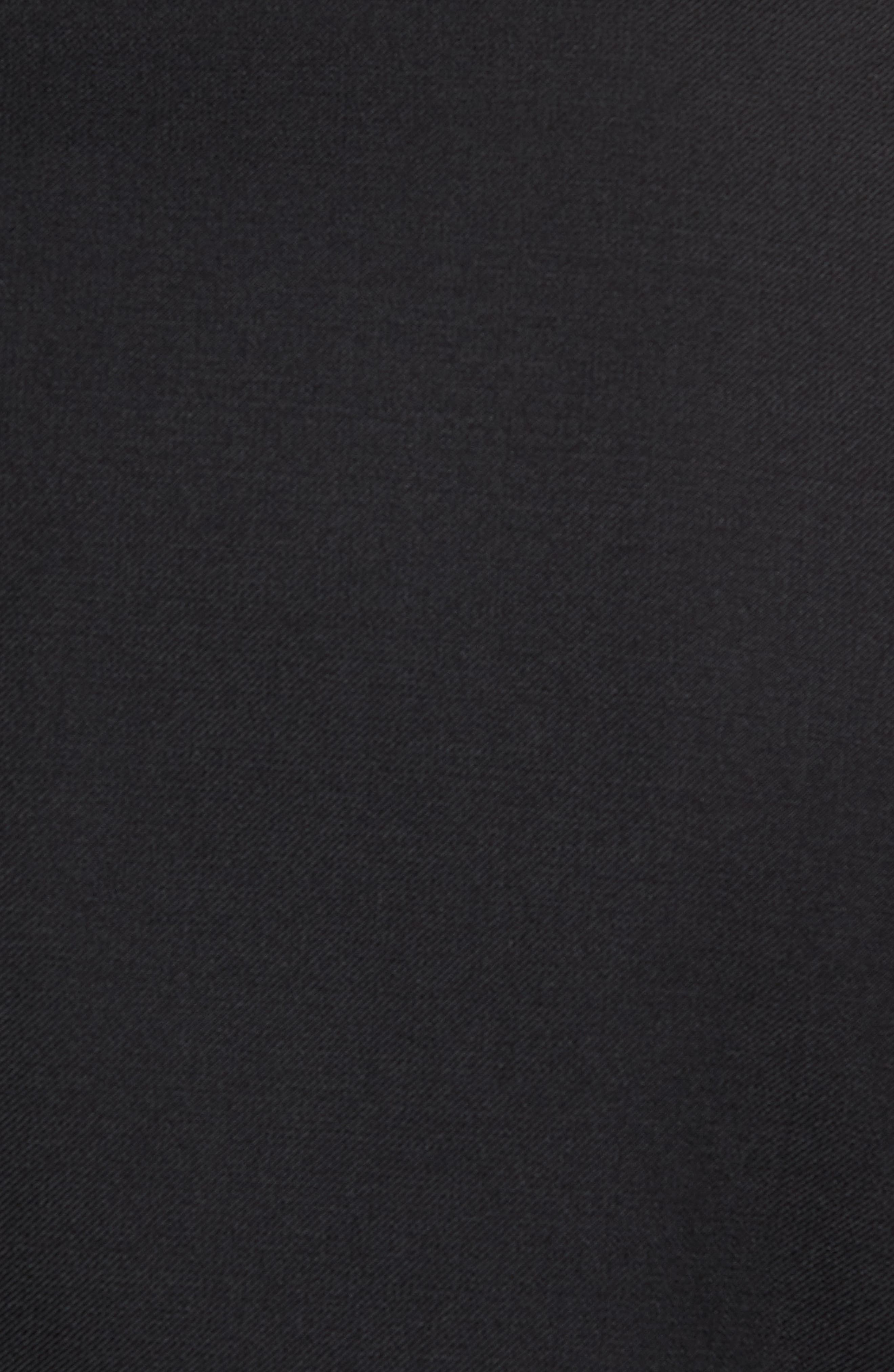 Trim Fit Wool Blend Tuxedo,                             Alternate thumbnail 7, color,                             BLACK